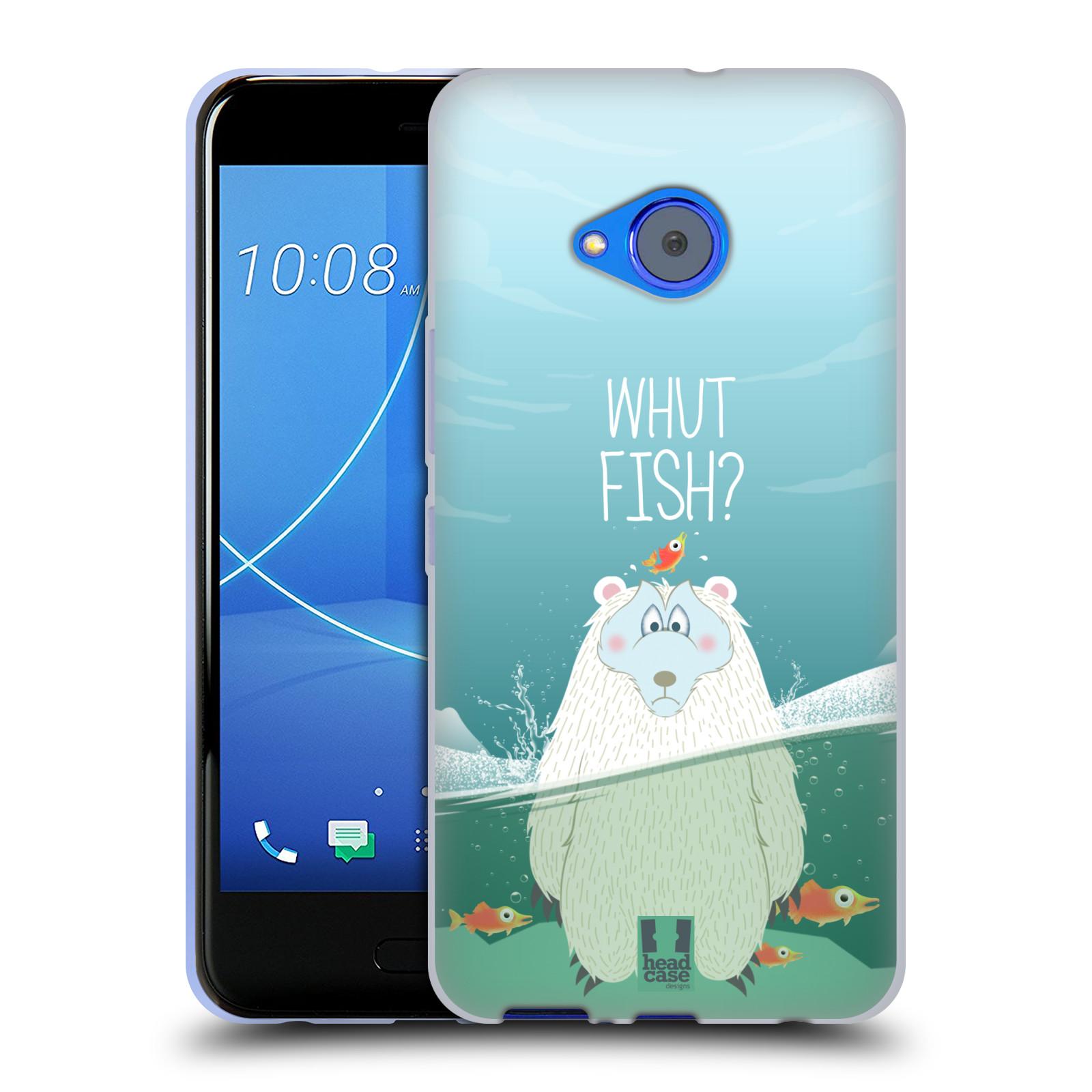 Silikonové pouzdro na mobil HTC U11 Life - Head Case - Medvěd Whut Fish?