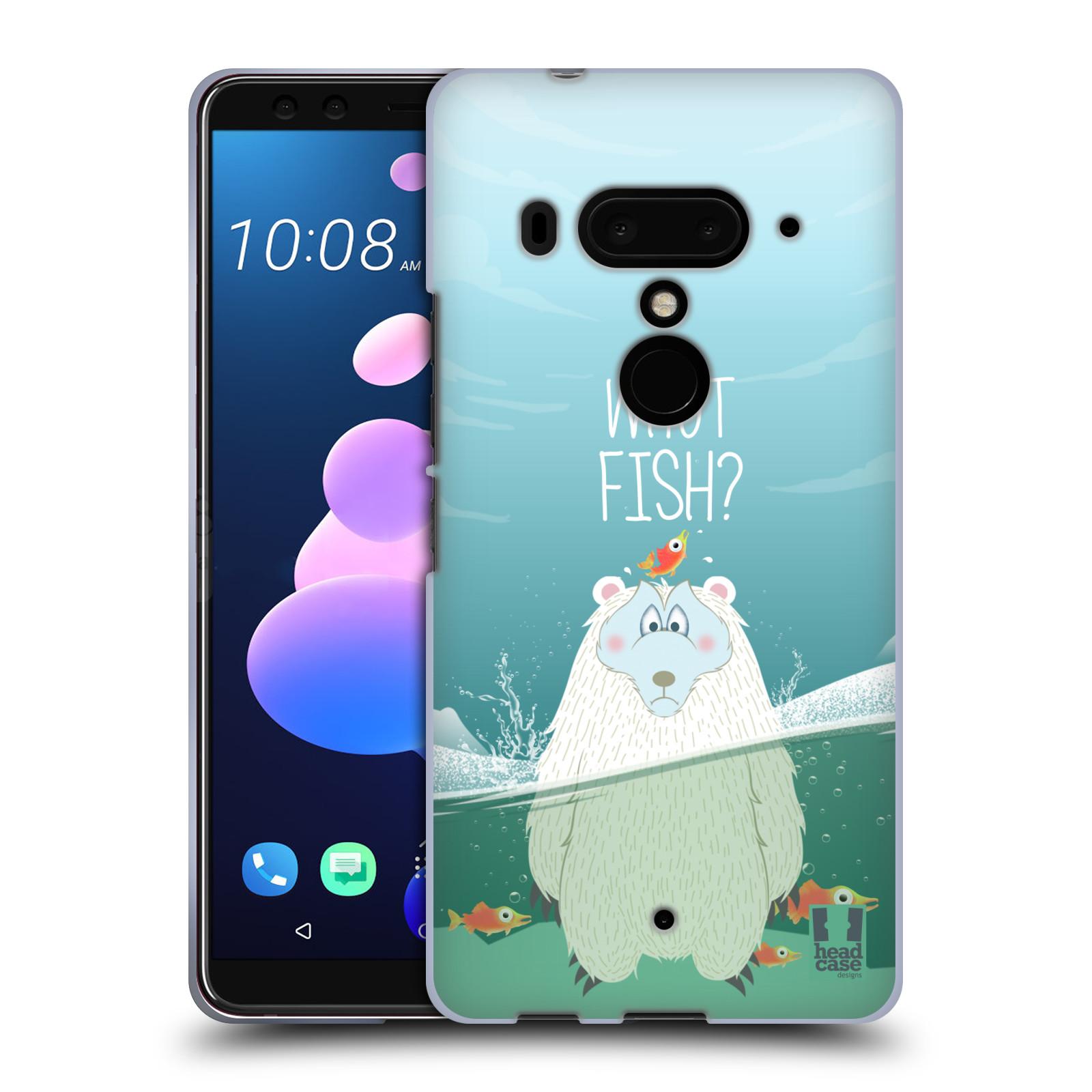 Silikonové pouzdro na mobil HTC U12 Plus - Head Case - Medvěd Whut Fish?