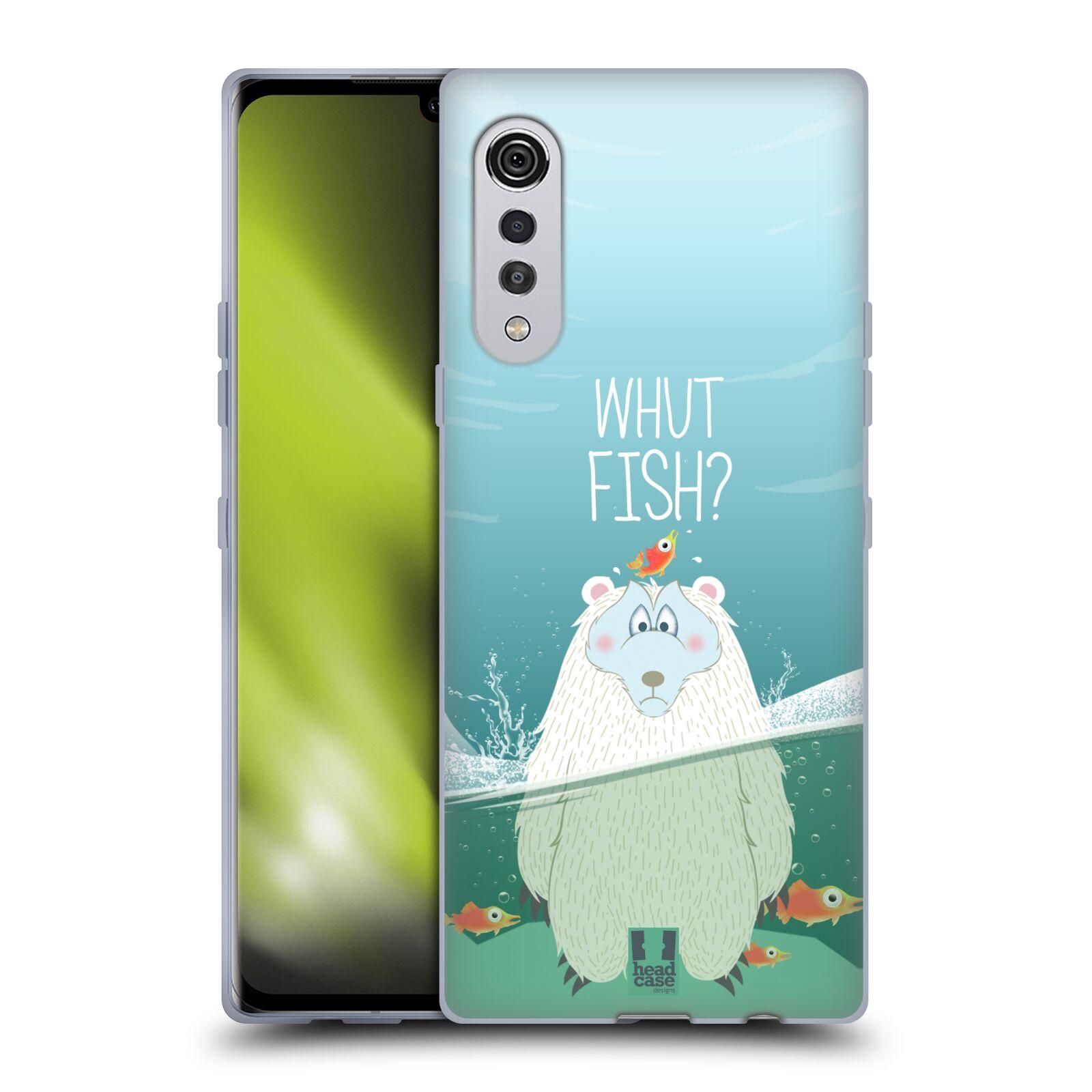 Silikonové pouzdro na mobil LG Velvet - Head Case - Medvěd Whut Fish?