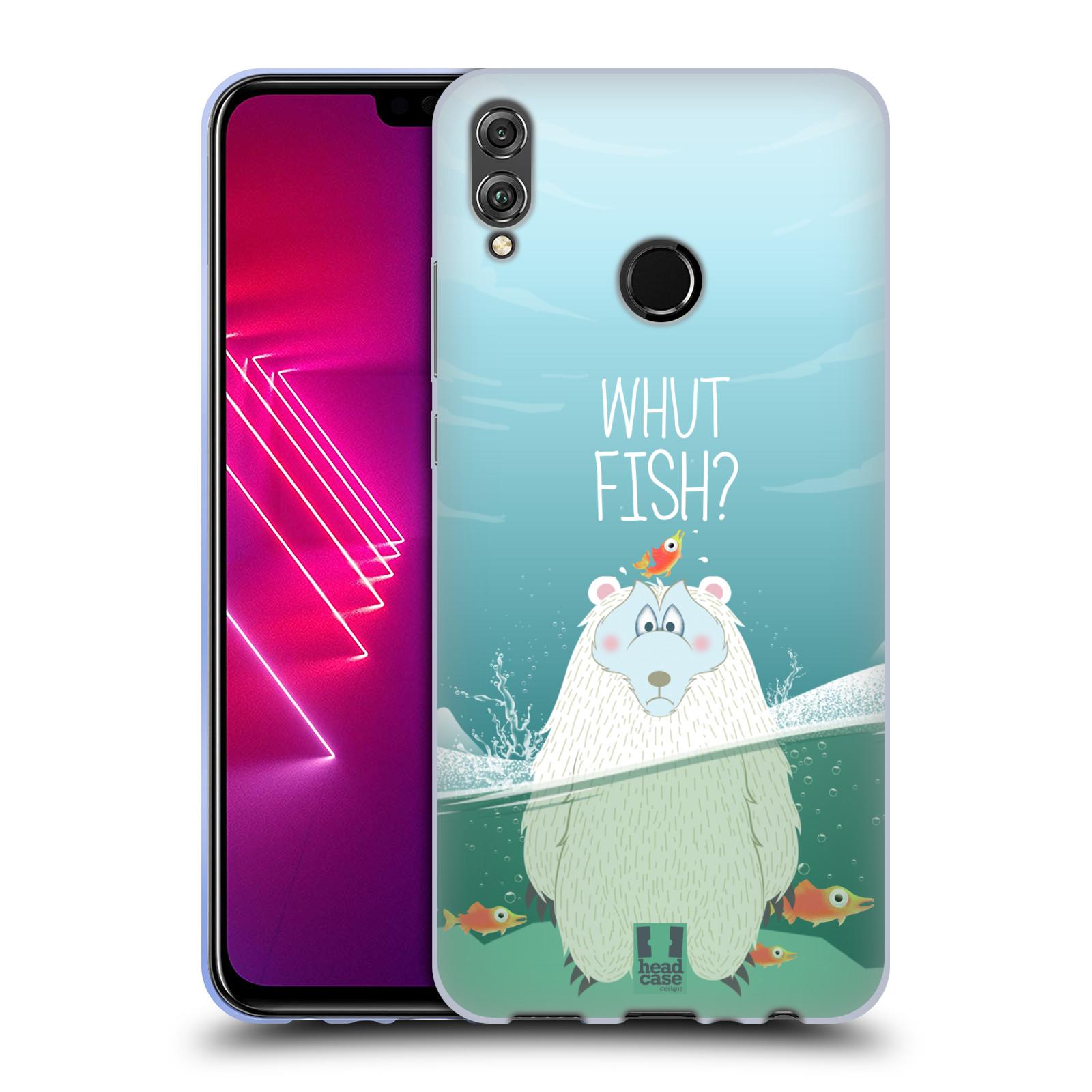 Silikonové pouzdro na mobil Honor View 10 Lite - Head Case - Medvěd Whut Fish?