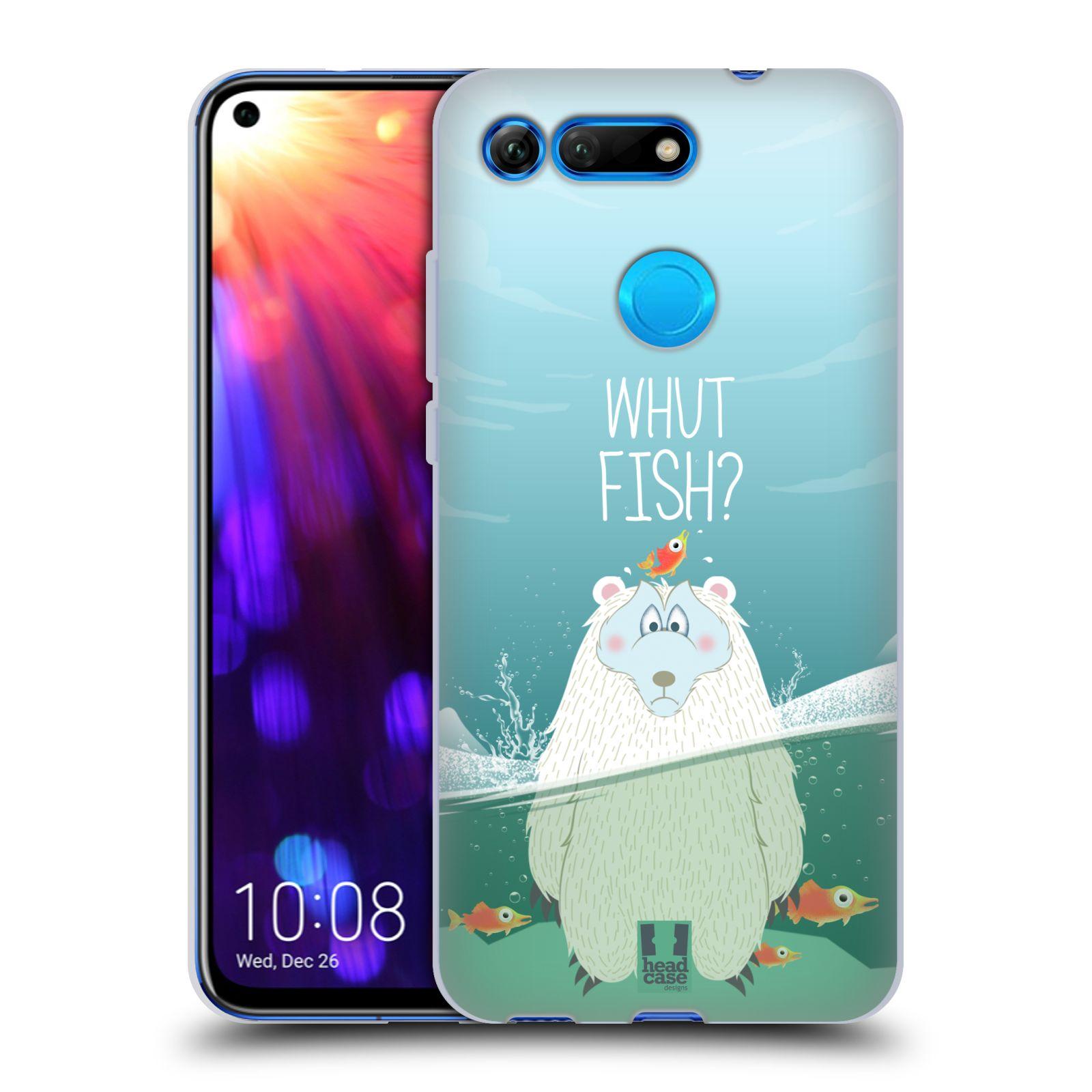 Silikonové pouzdro na mobil Honor View 20 - Head Case - Medvěd Whut Fish?