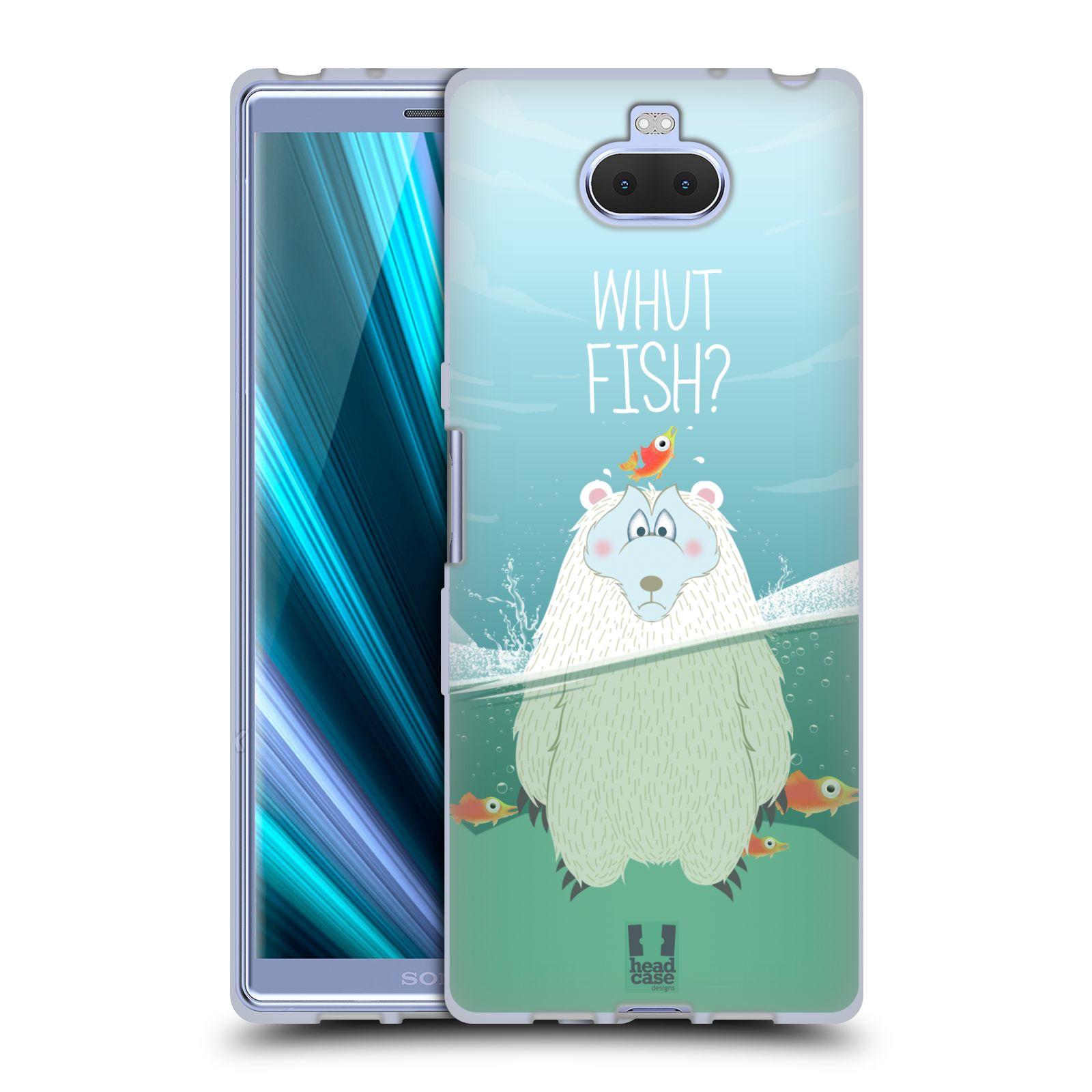 Silikonové pouzdro na mobil Sony Xperia 10 - Head Case - Medvěd Whut Fish?
