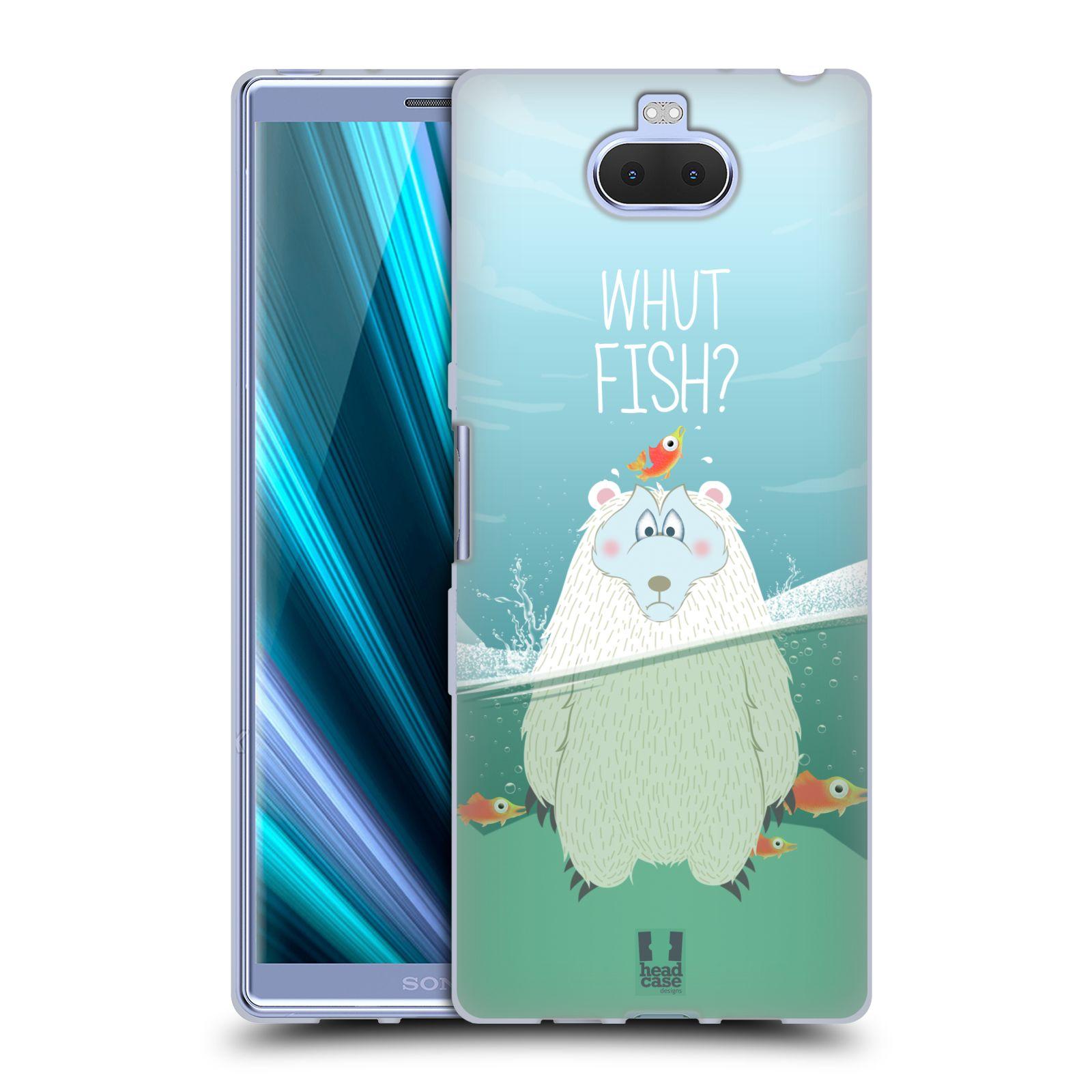 Silikonové pouzdro na mobil Sony Xperia 10 Plus - Head Case - Medvěd Whut Fish?
