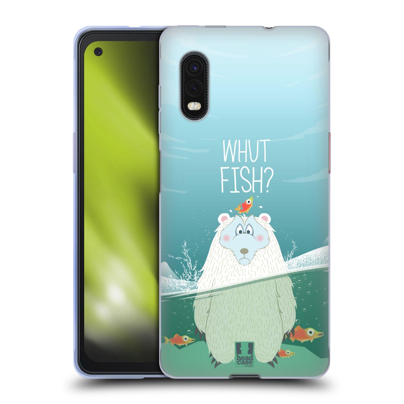 Silikonové pouzdro na mobil Samsung Galaxy Xcover Pro - Head Case - Medvěd Whut Fish?
