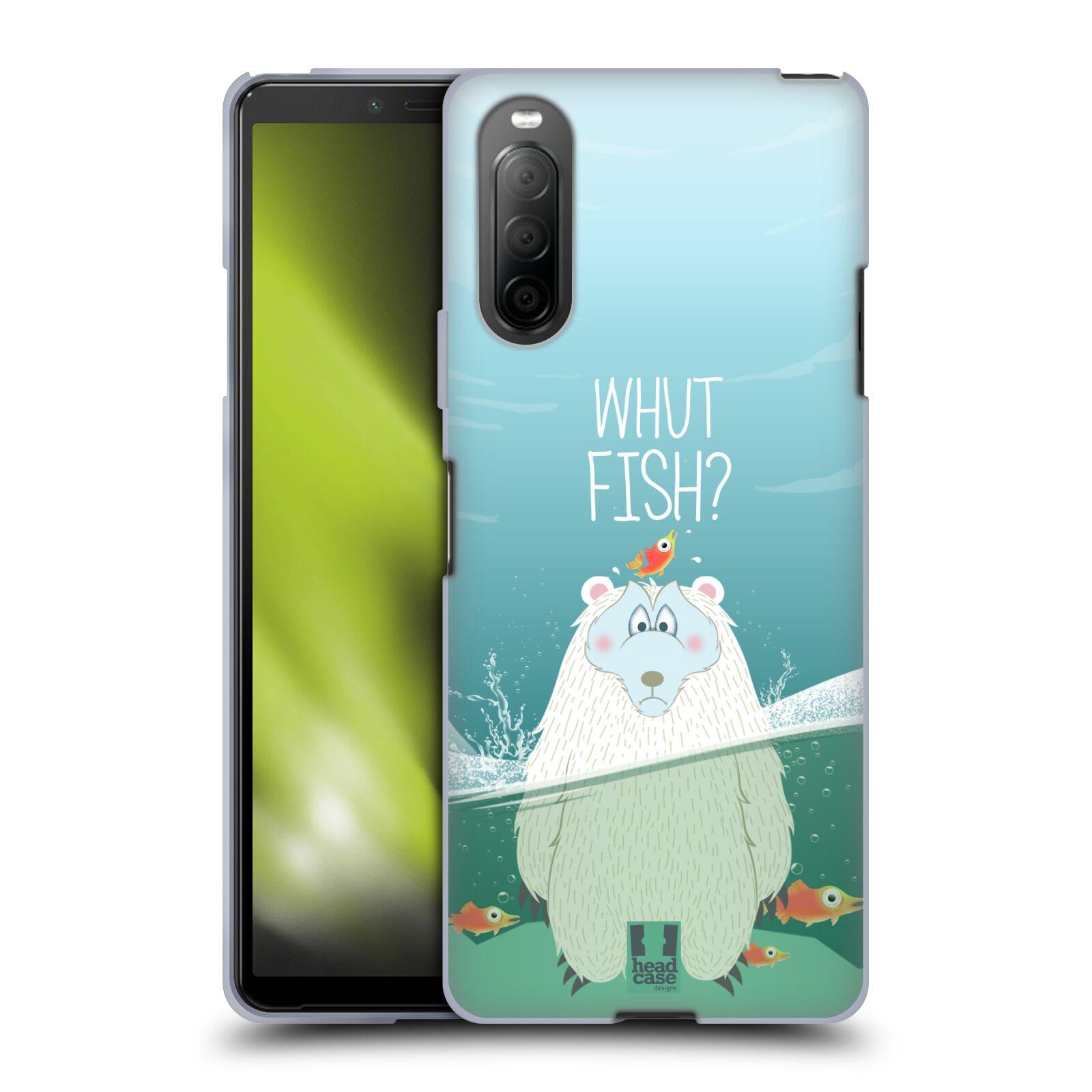Silikonové pouzdro na mobil Sony Xperia 10 II - Head Case - Medvěd Whut Fish?