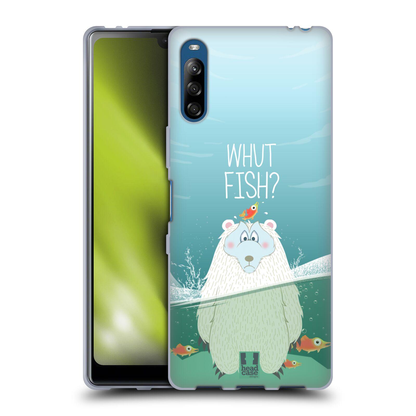 Silikonové pouzdro na mobil Sony Xperia L4 - Head Case - Medvěd Whut Fish?
