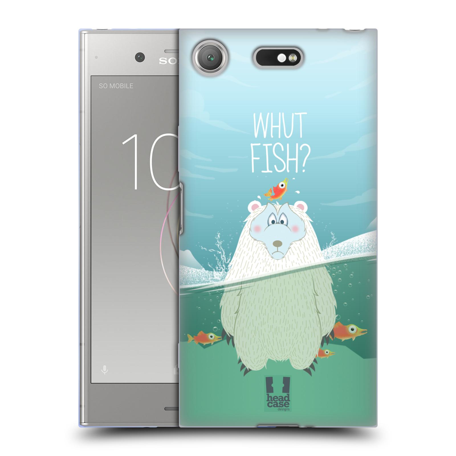 Silikonové pouzdro na mobil Sony Xperia XZ1 Compact - Head Case - Medvěd Whut Fish?