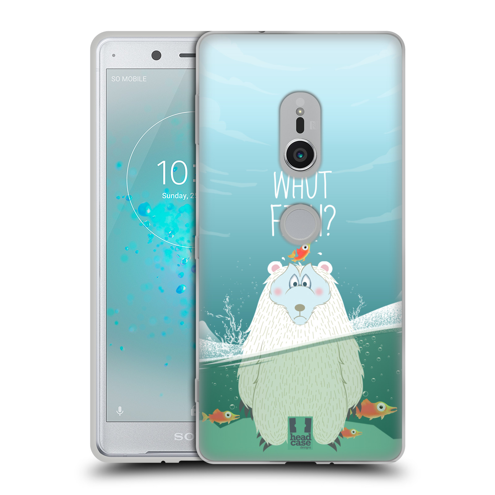 Silikonové pouzdro na mobil Sony Xperia XZ2 - Head Case - Medvěd Whut Fish?