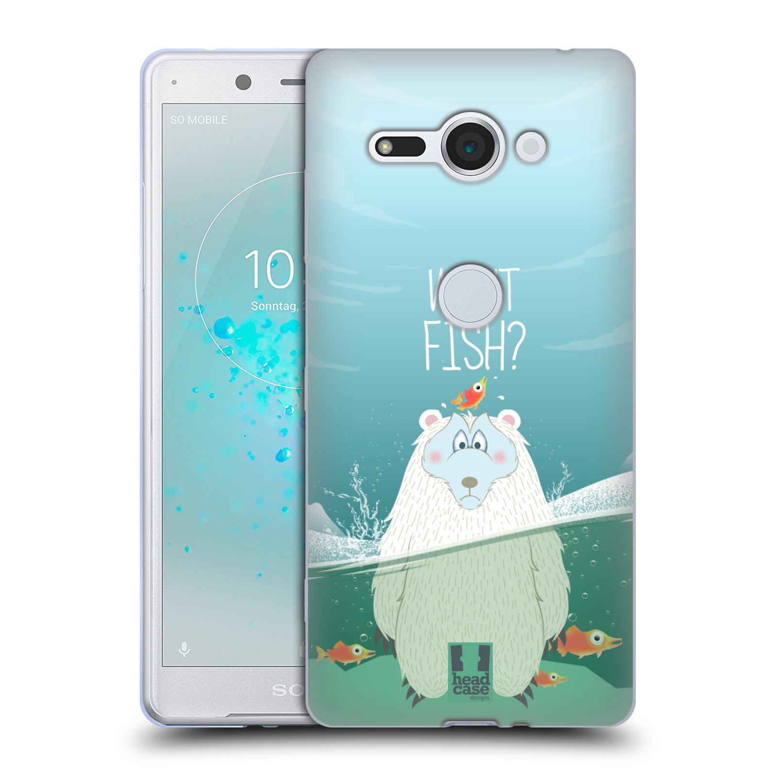 Silikonové pouzdro na mobil Sony Xperia XZ2 Compact - Head Case - Medvěd Whut Fish?