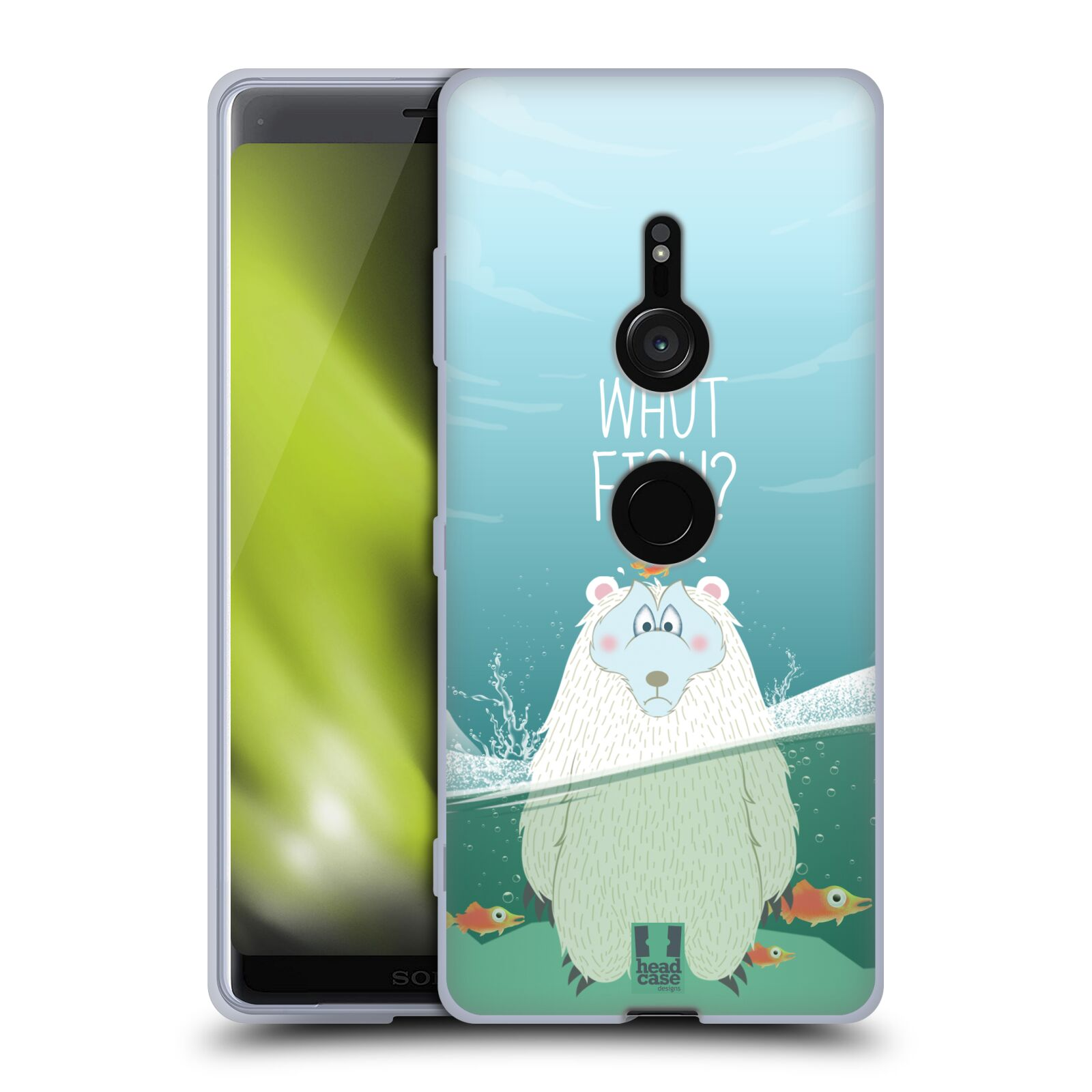 Silikonové pouzdro na mobil Sony Xperia XZ3 - Head Case - Medvěd Whut Fish?