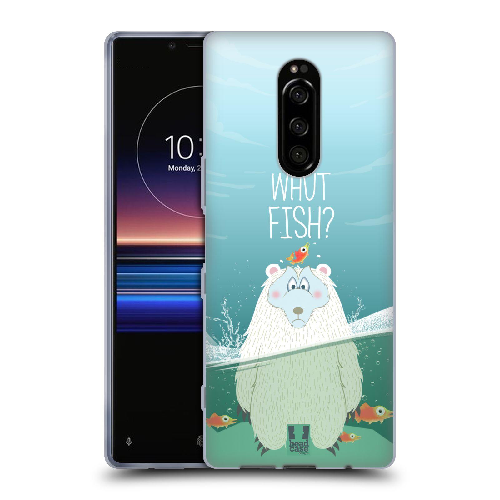 Silikonové pouzdro na mobil Sony Xperia 1 - Head Case - Medvěd Whut Fish?