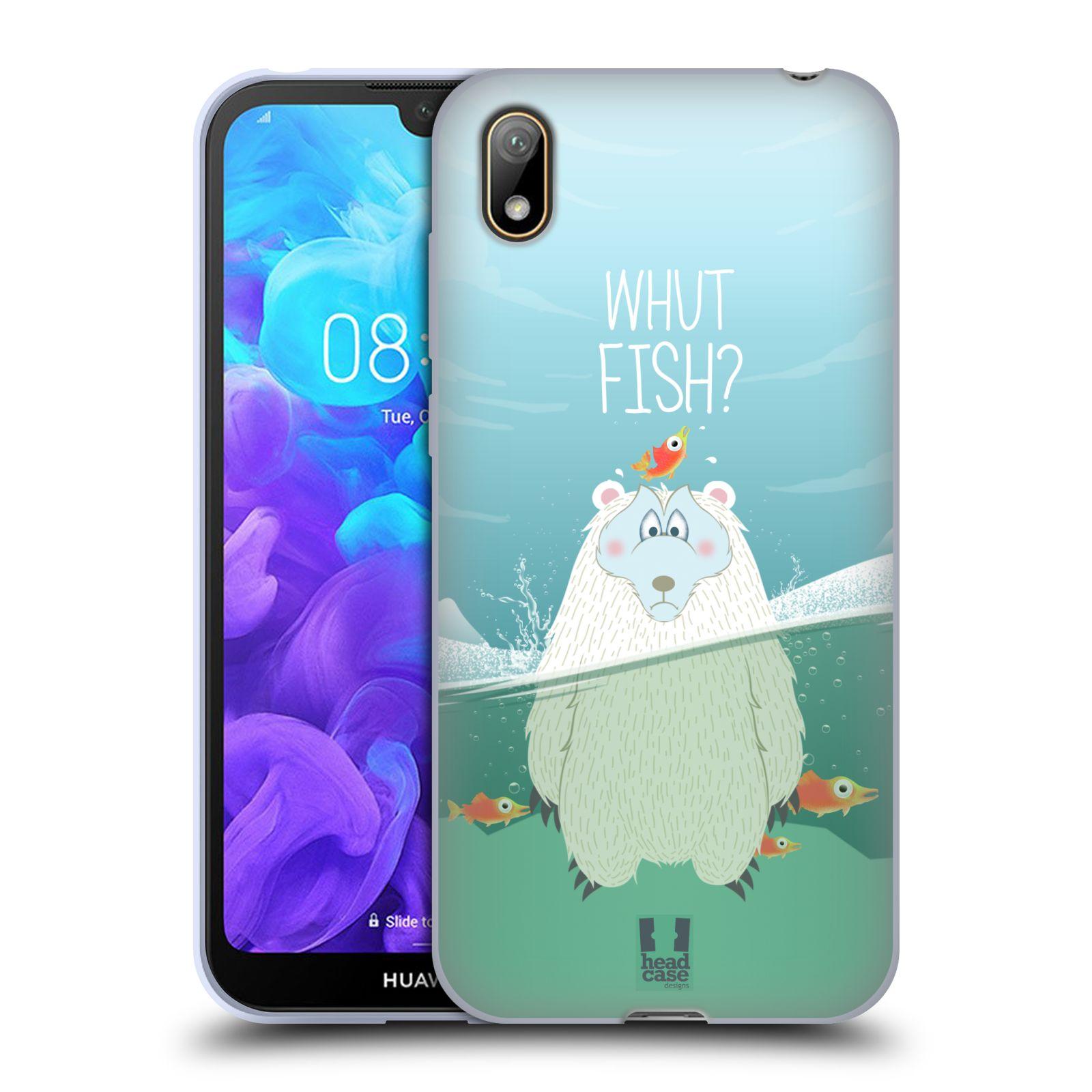 Silikonové pouzdro na mobil Huawei Y5 (2019) - Head Case - Medvěd Whut Fish?