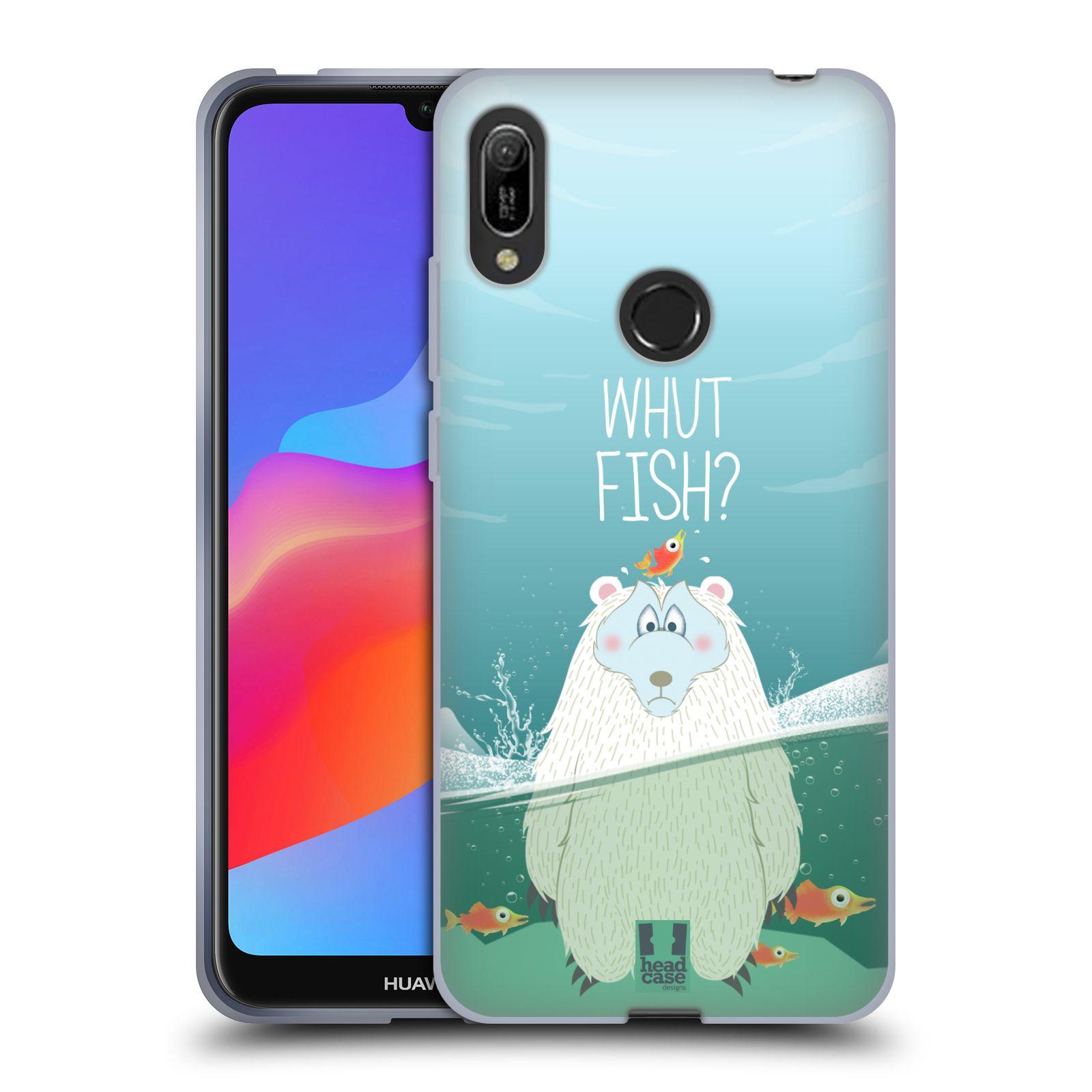 Silikonové pouzdro na mobil Huawei Y6 (2019) - Head Case - Medvěd Whut Fish?