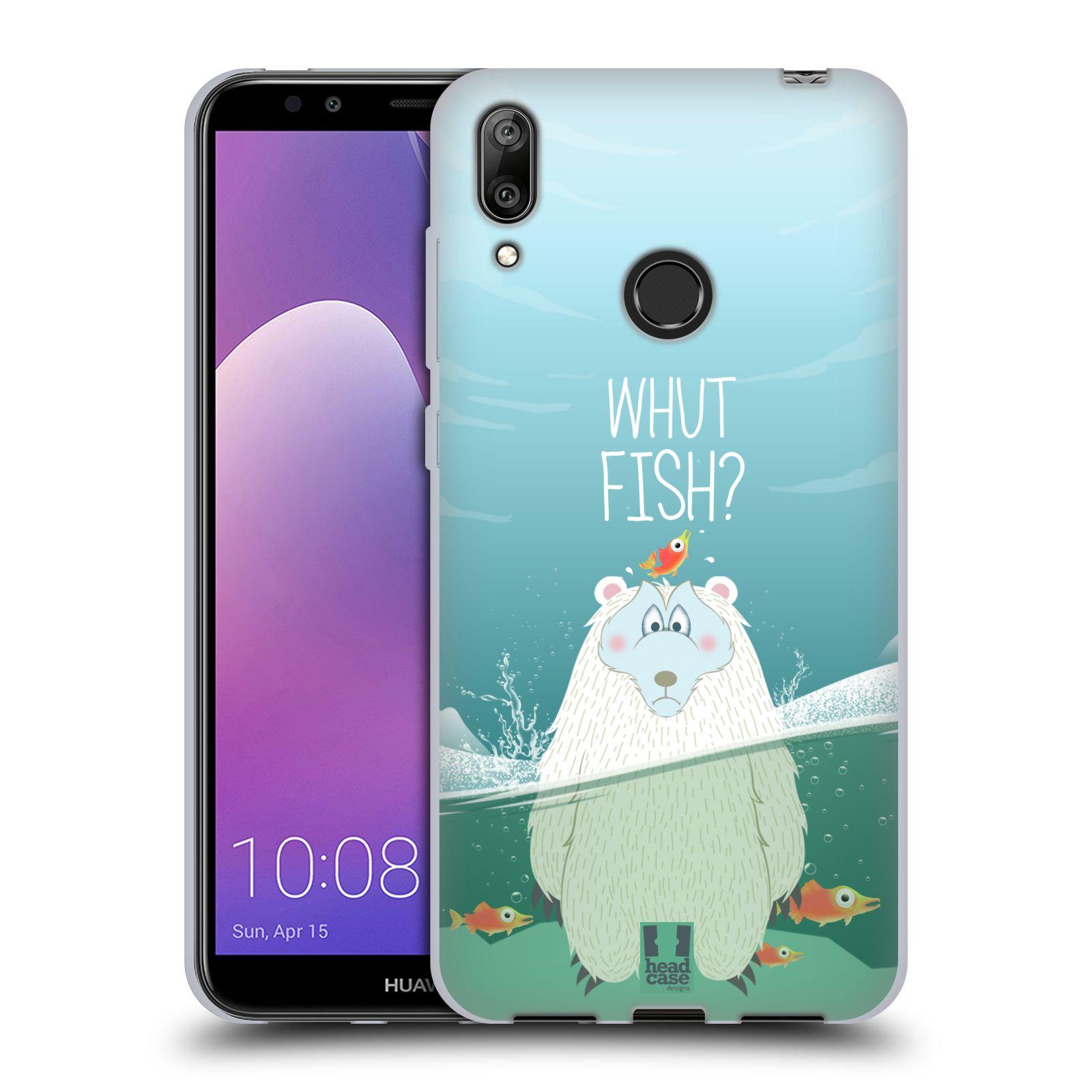 Silikonové pouzdro na mobil Huawei Y7 (2019) - Head Case - Medvěd Whut Fish?