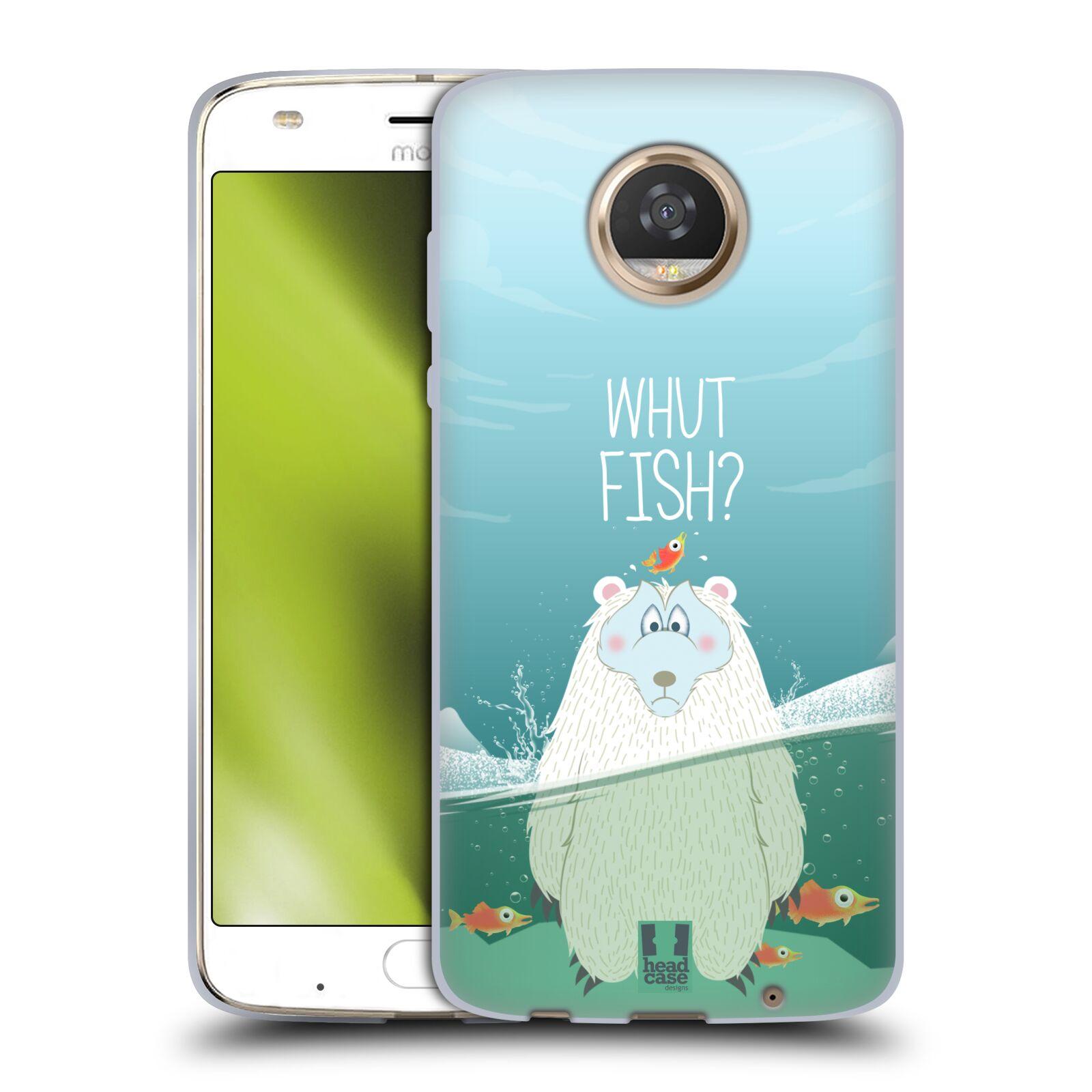 Silikonové pouzdro na mobil Lenovo Moto Z2 Play - Head Case - Medvěd Whut Fish?