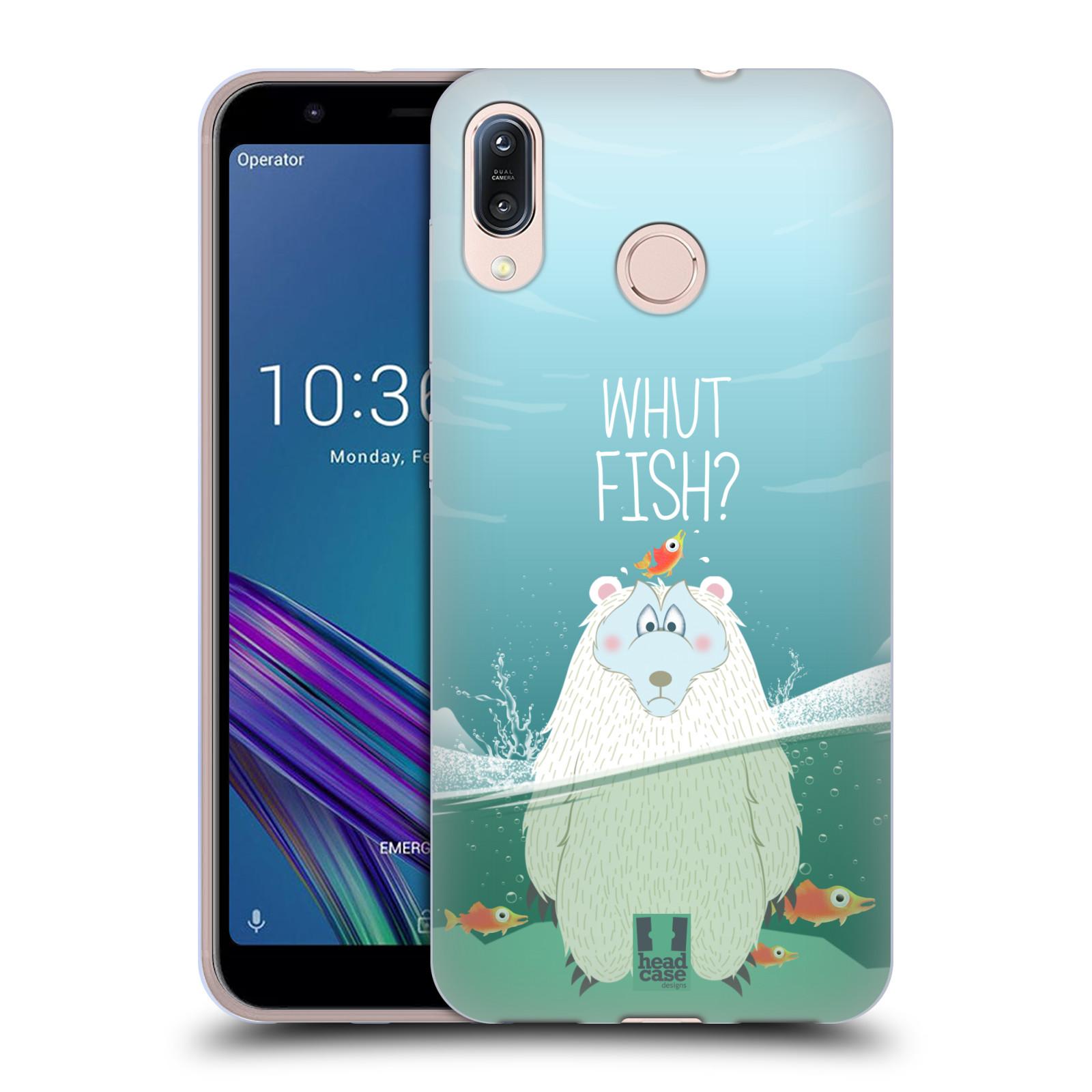 Silikonové pouzdro na mobil Asus Zenfone Max M1 ZB555KL - Head Case - Medvěd Whut Fish?