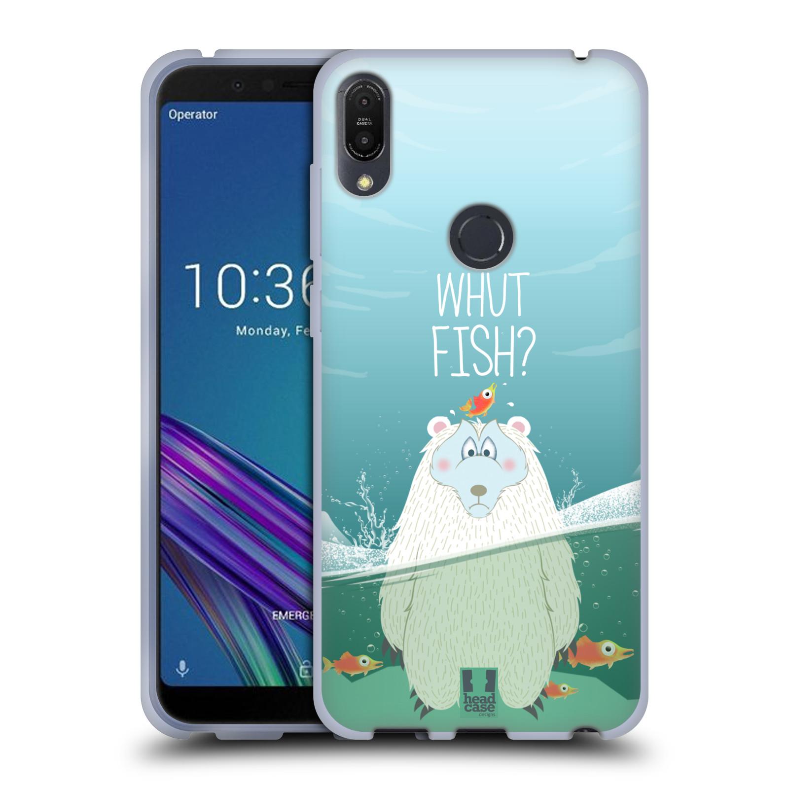 Silikonové pouzdro na mobil Asus ZenFone Max Pro (M1) - Head Case - Medvěd Whut Fish?