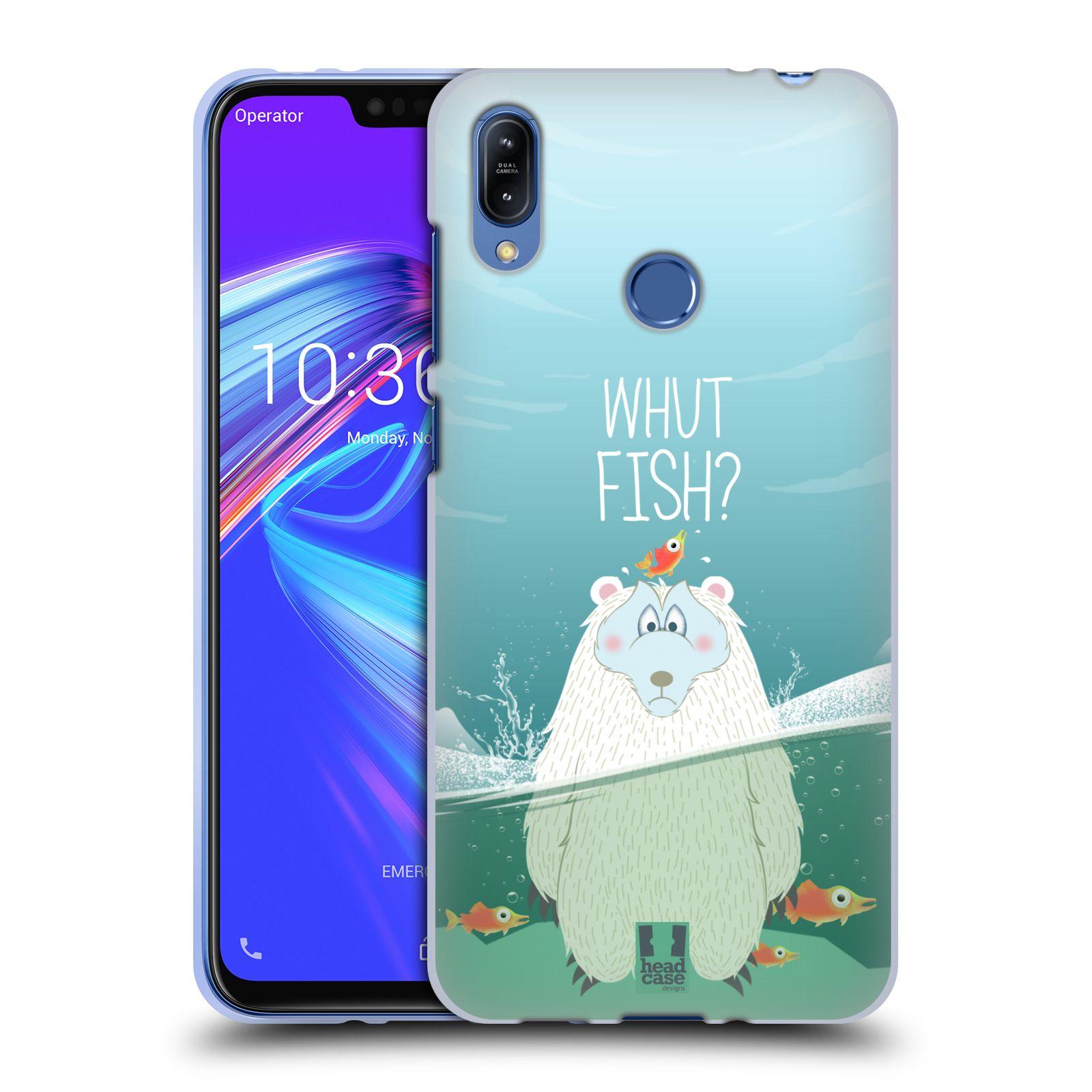 Silikonové pouzdro na mobil Asus Zenfone Max (M2) ZB633KL - Head Case - Medvěd Whut Fish?