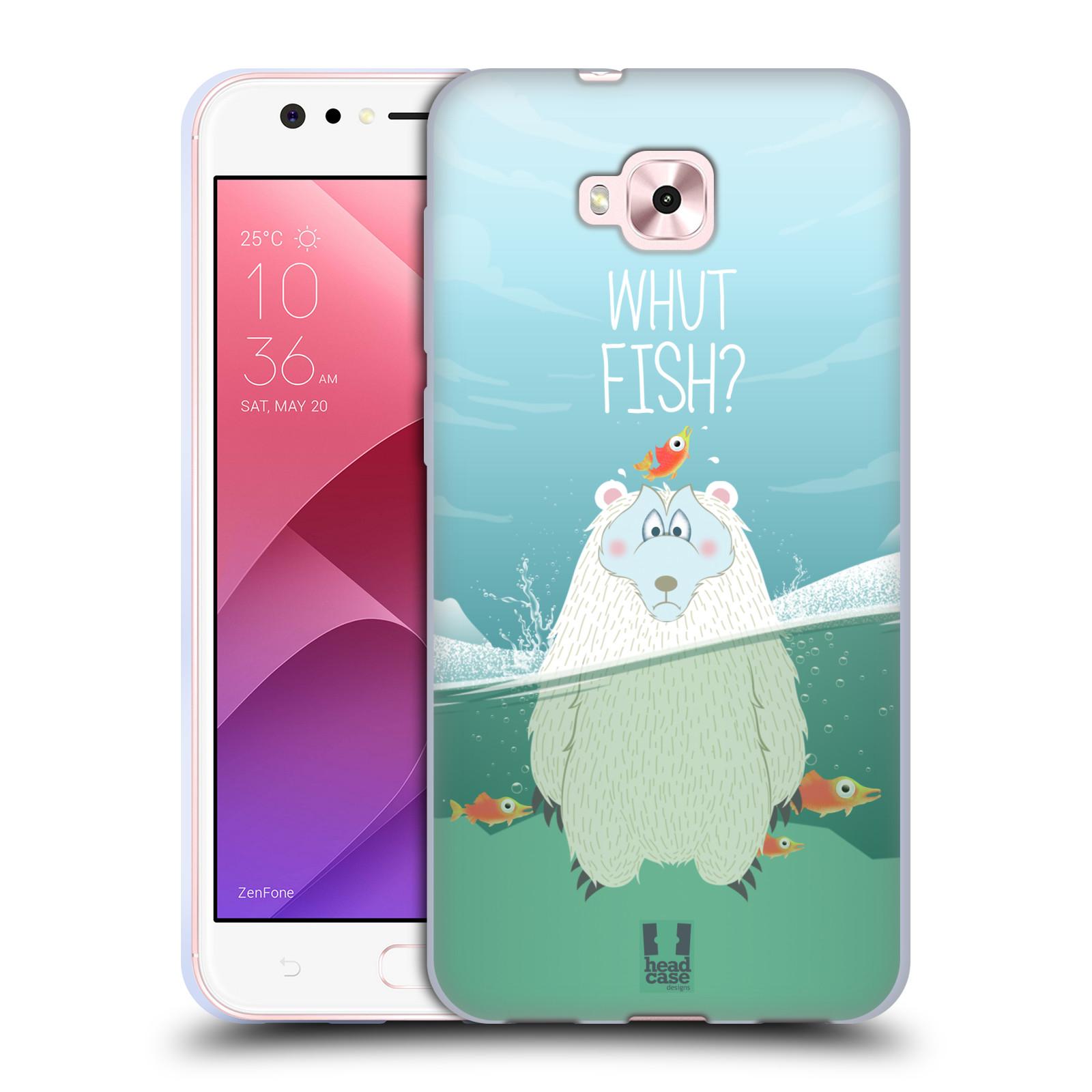 Silikonové pouzdro na mobil Asus Zenfone 4 Selfie ZD553KL - Head Case - Medvěd Whut Fish?