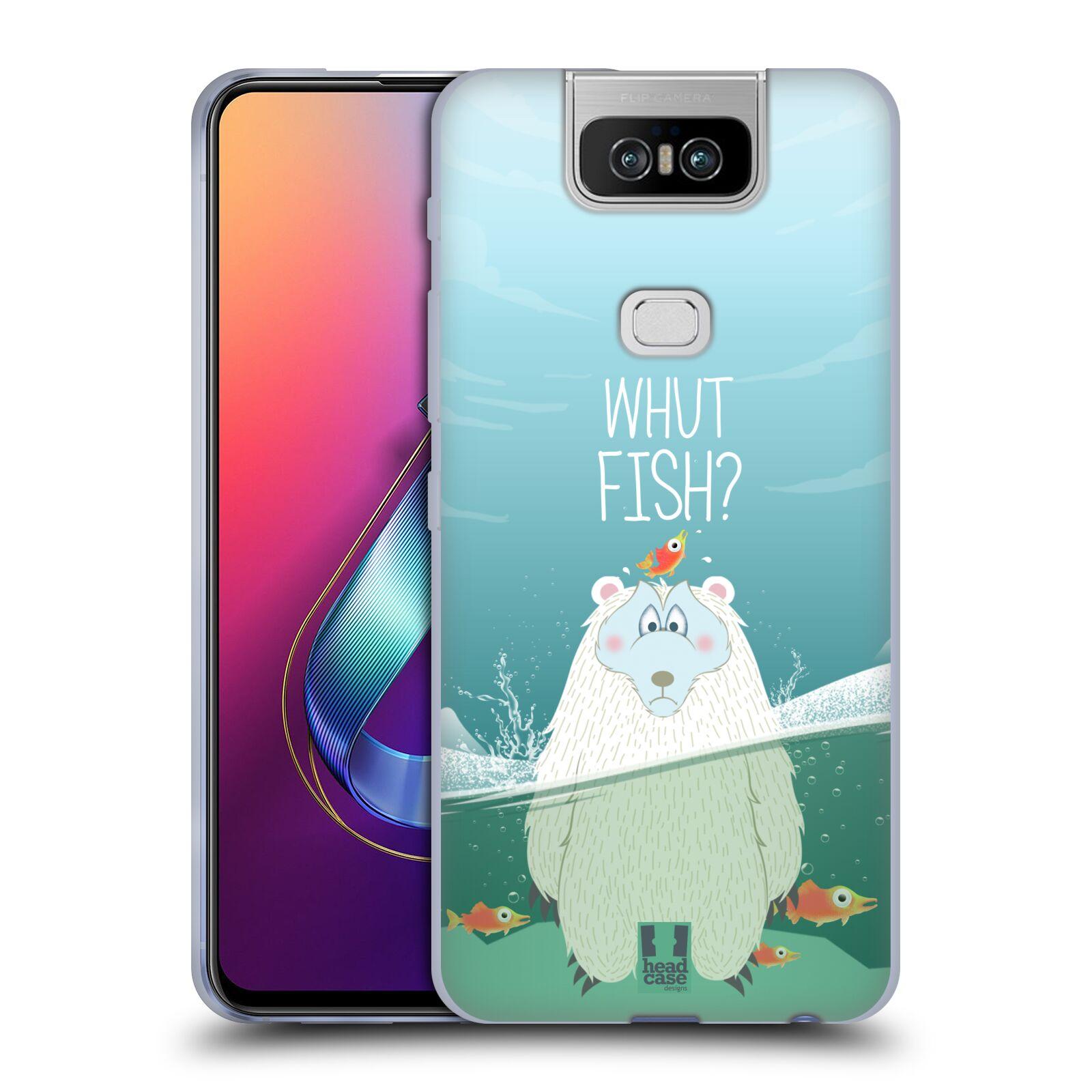 Silikonové pouzdro na mobil Asus Zenfone 6 ZS630KL - Head Case - Medvěd Whut Fish?
