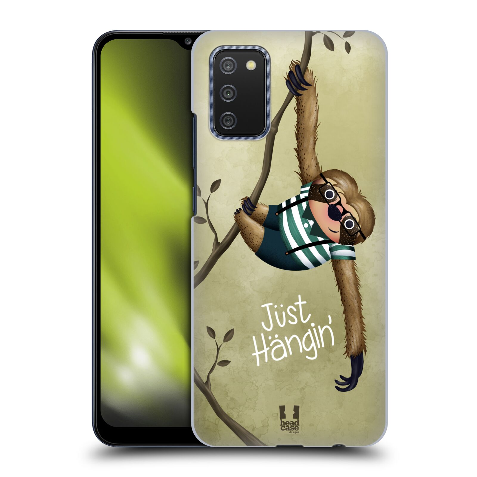 Plastové pouzdro na mobil Samsung Galaxy A02s - Head Case - Lenochod Just Hangin
