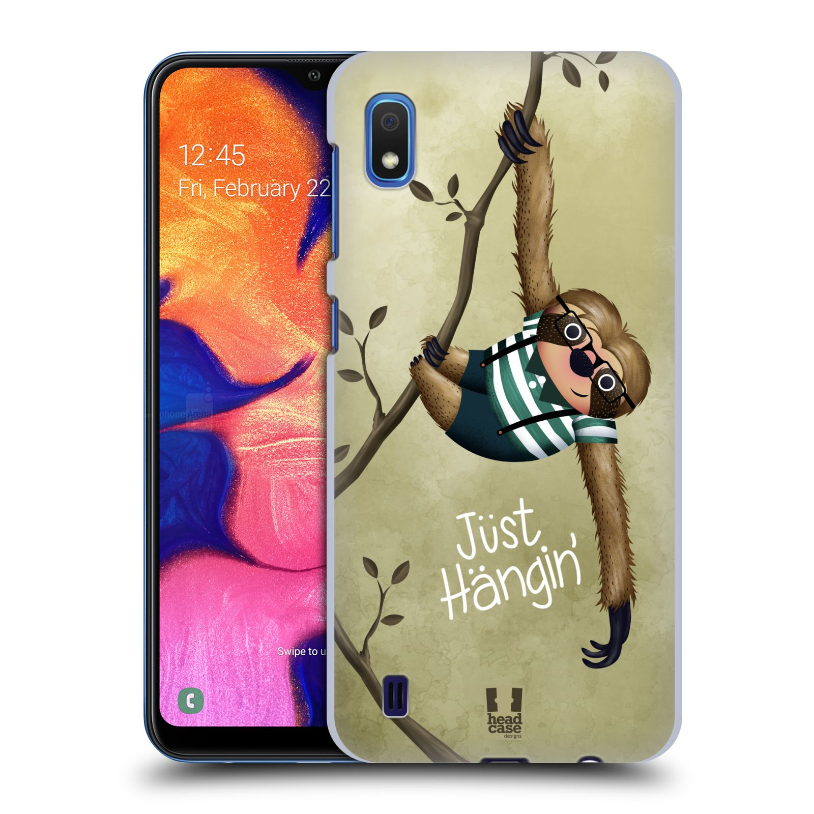 Plastové pouzdro na mobil Samsung Galaxy A10 - Head Case - Lenochod Just Hangin