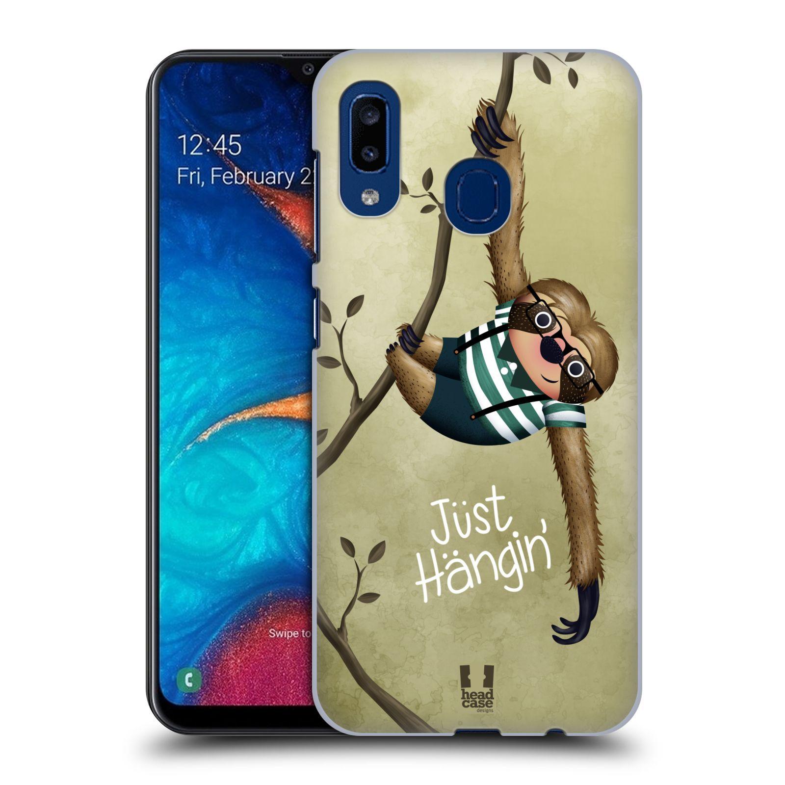 Plastové pouzdro na mobil Samsung Galaxy A20 - Head Case - Lenochod Just Hangin