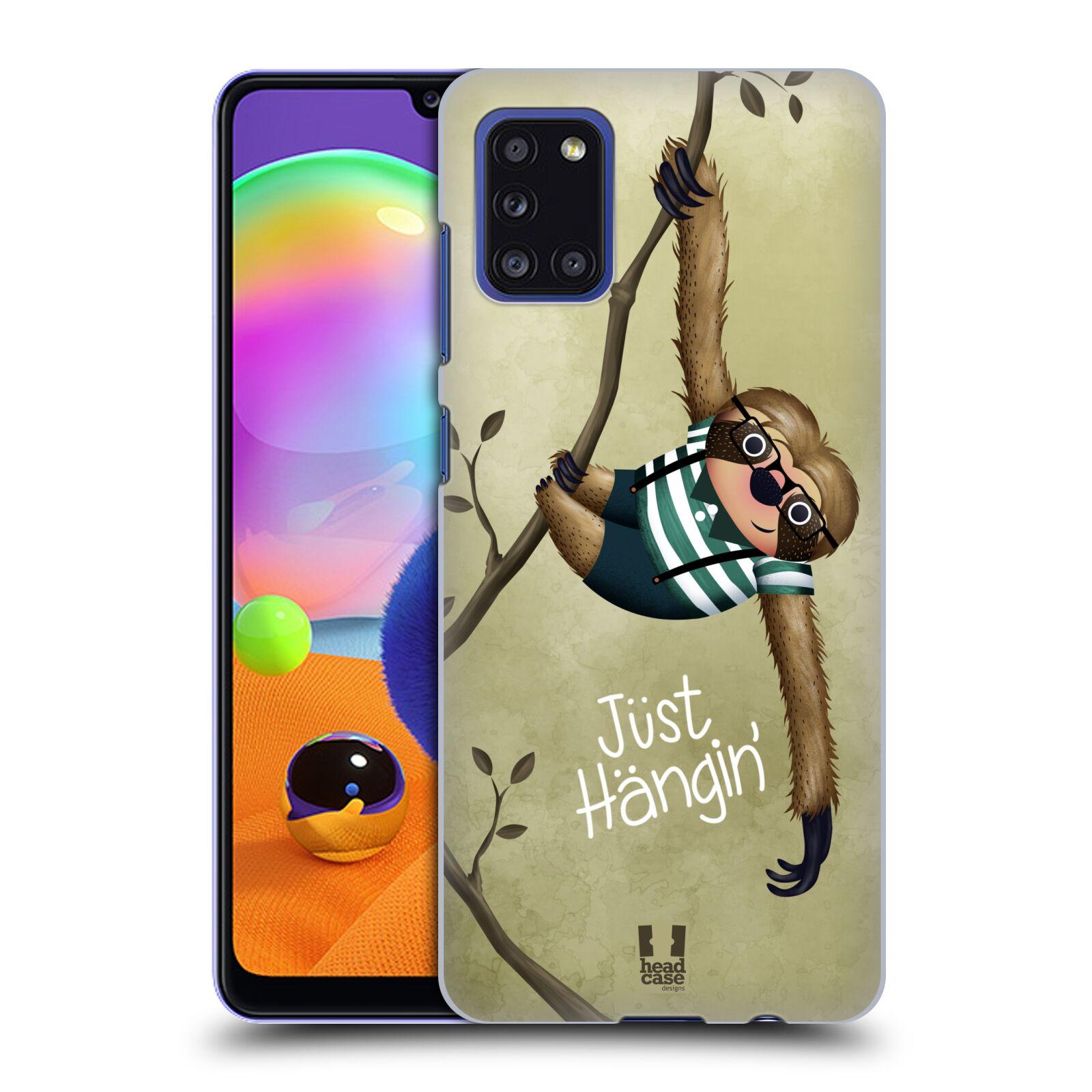 Plastové pouzdro na mobil Samsung Galaxy A31 - Head Case - Lenochod Just Hangin