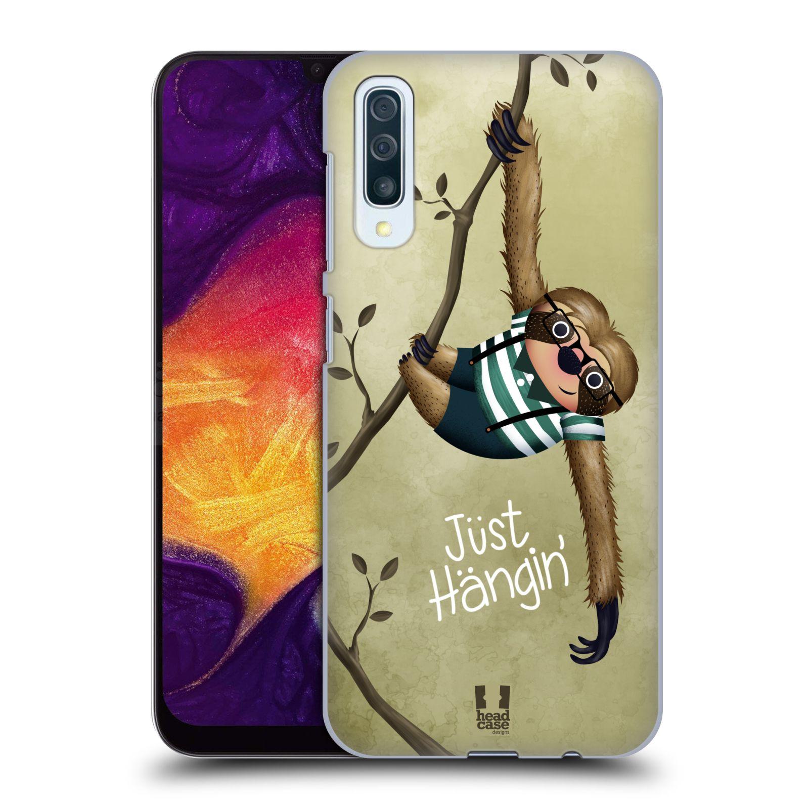 Plastové pouzdro na mobil Samsung Galaxy A50 - Head Case - Lenochod Just Hangin