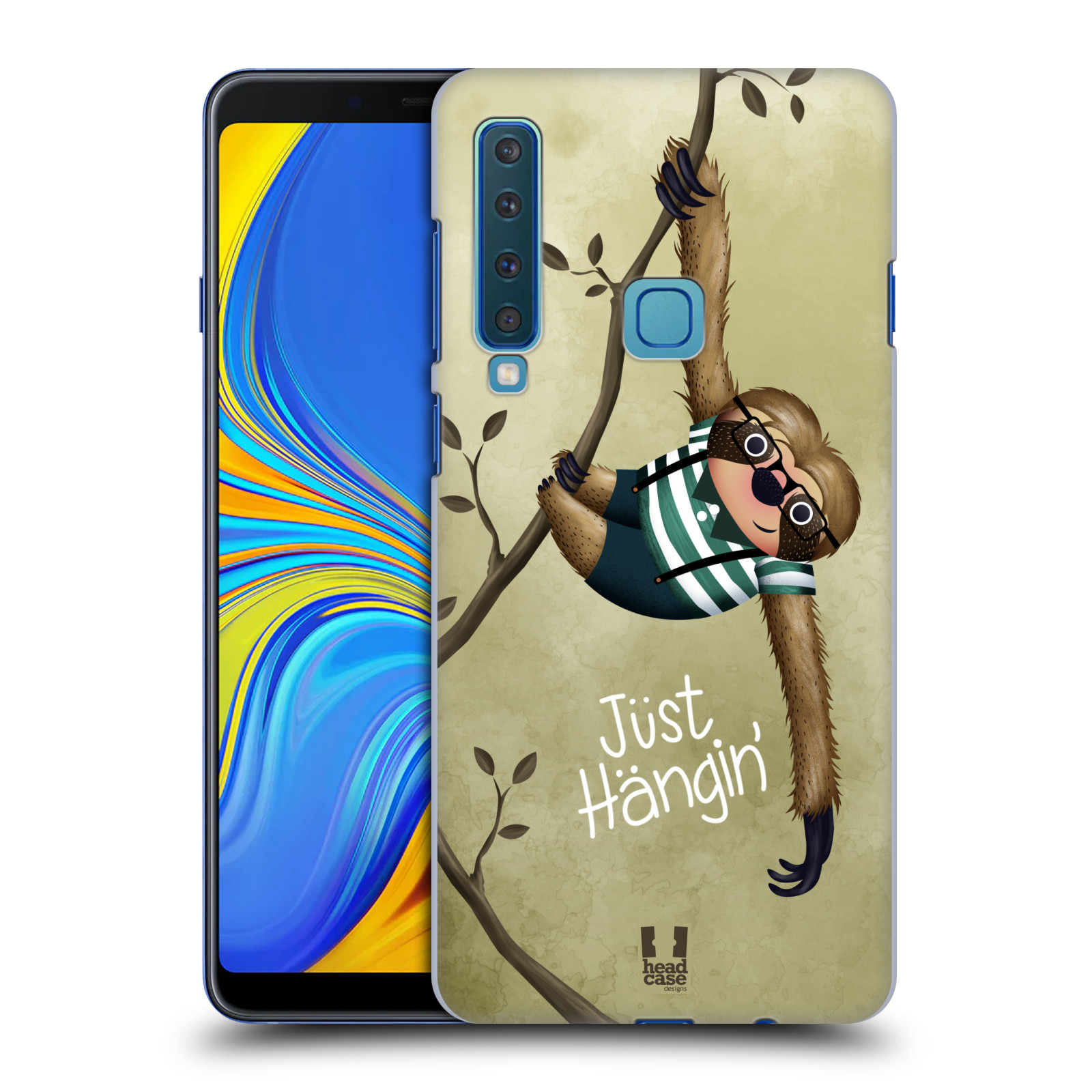 Plastové pouzdro na mobil Samsung Galaxy A9 (2018) - Head Case - Lenochod Just Hangin