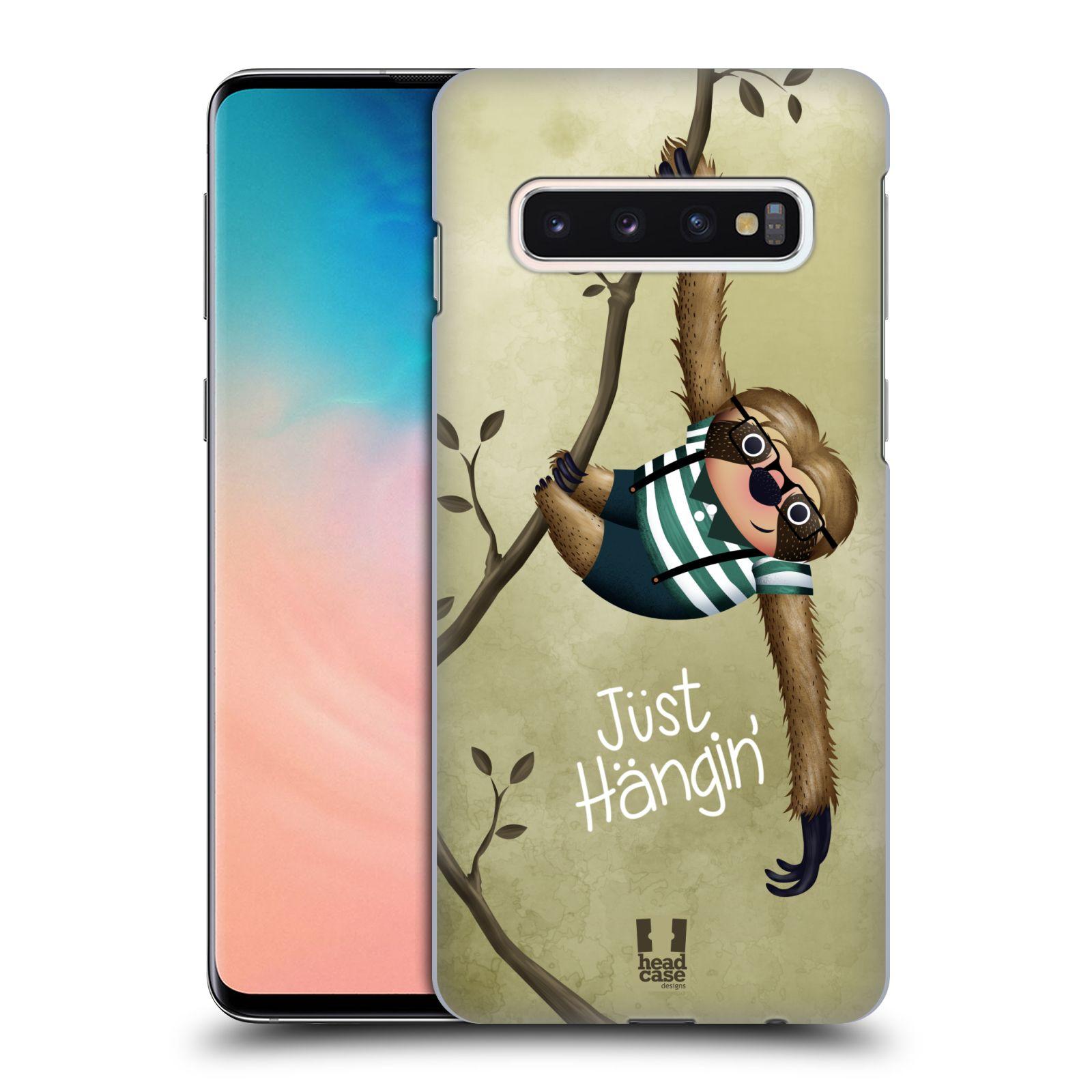Plastové pouzdro na mobil Samsung Galaxy S10 - Head Case - Lenochod Just Hangin