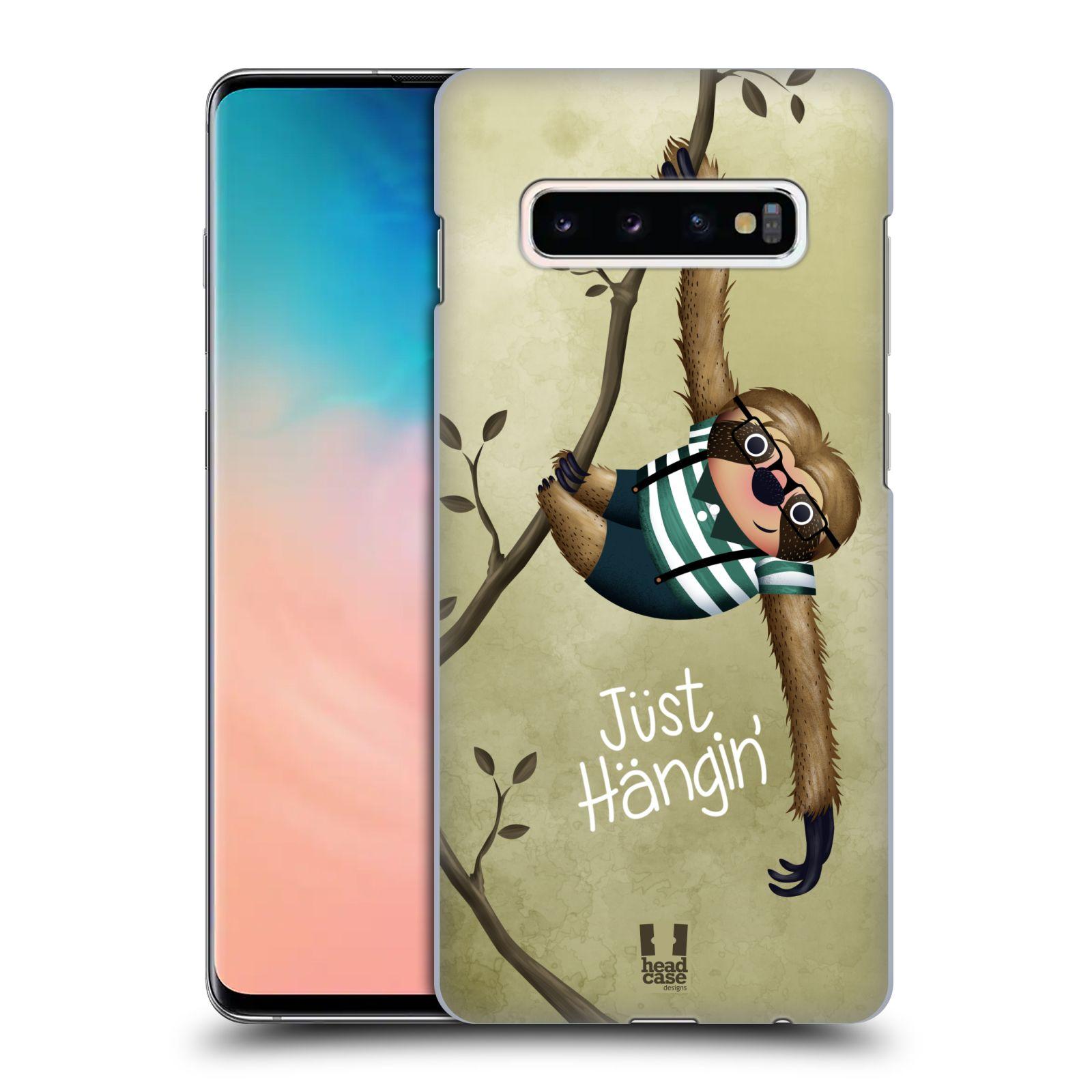 Plastové pouzdro na mobil Samsung Galaxy S10 Plus - Head Case - Lenochod Just Hangin
