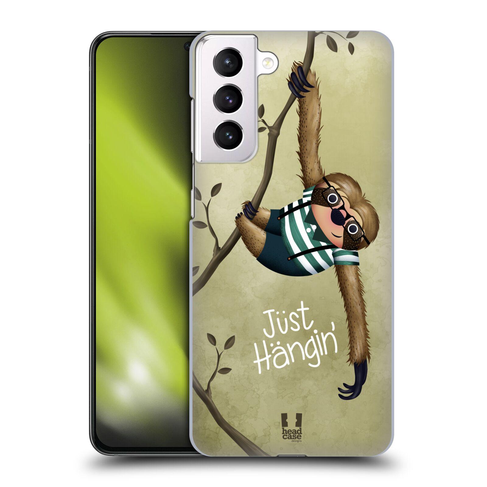 Plastové pouzdro na mobil Samsung Galaxy S21 Plus 5G - Head Case - Lenochod Just Hangin