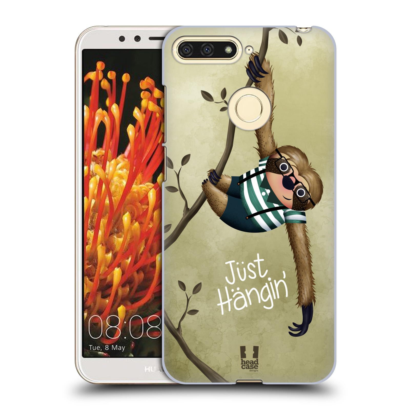 Plastové pouzdro na mobil Huawei Y6 Prime 2018 - Head Case - Lenochod Just Hangin