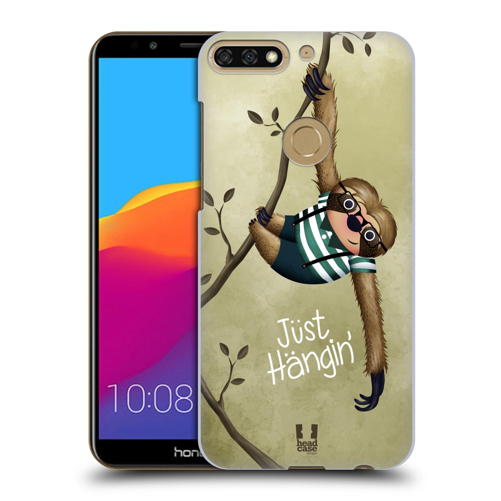 Plastové pouzdro na mobil Huawei Y7 Prime 2018 - Head Case - Lenochod Just Hangin
