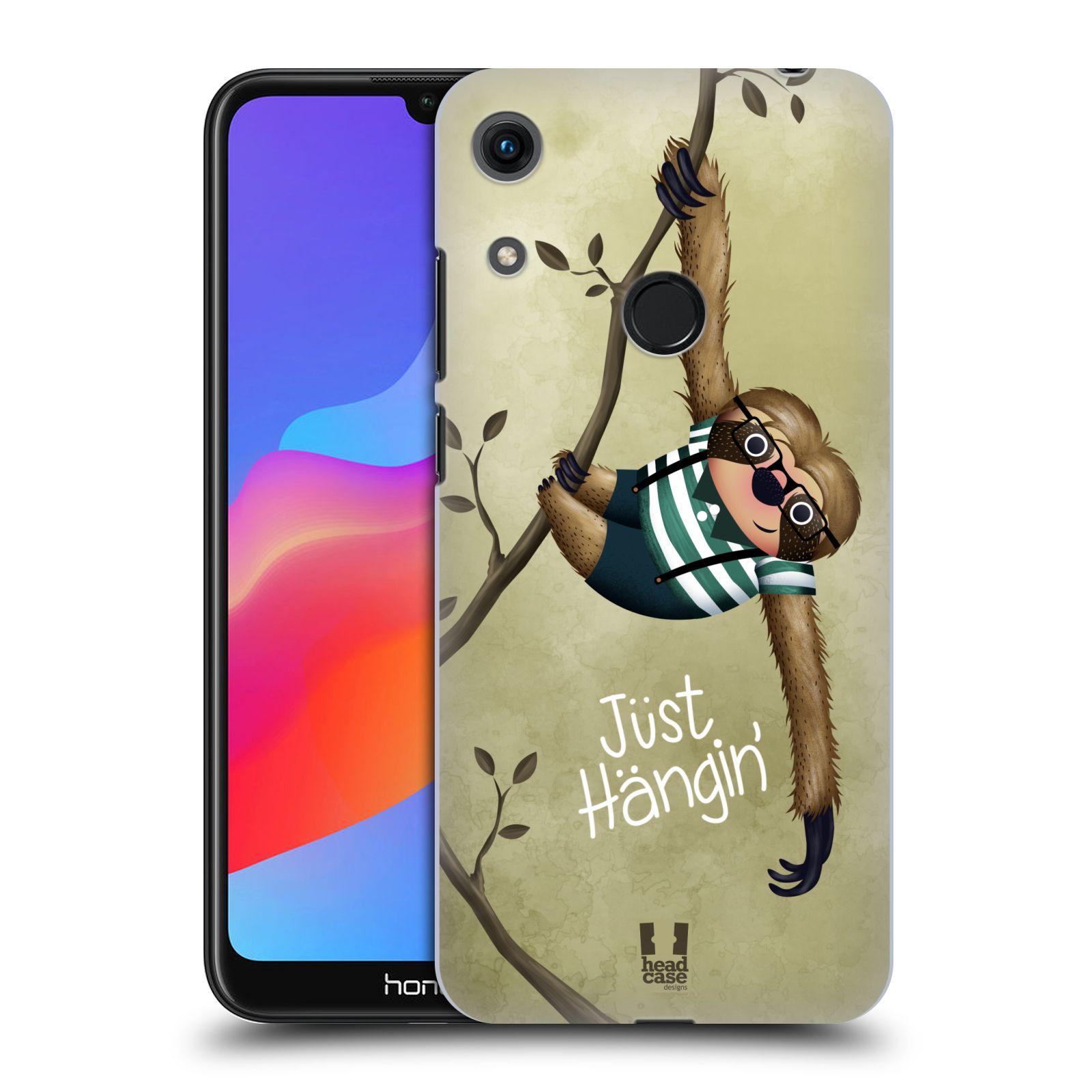 Plastové pouzdro na mobil Honor 8A - Head Case - Lenochod Just Hangin
