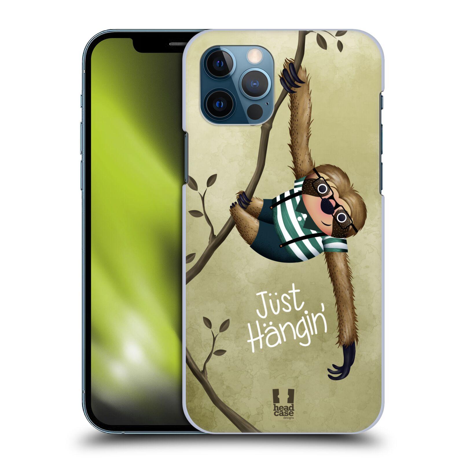 Plastové pouzdro na mobil Apple iPhone 12 / 12 Pro - Head Case - Lenochod Just Hangin