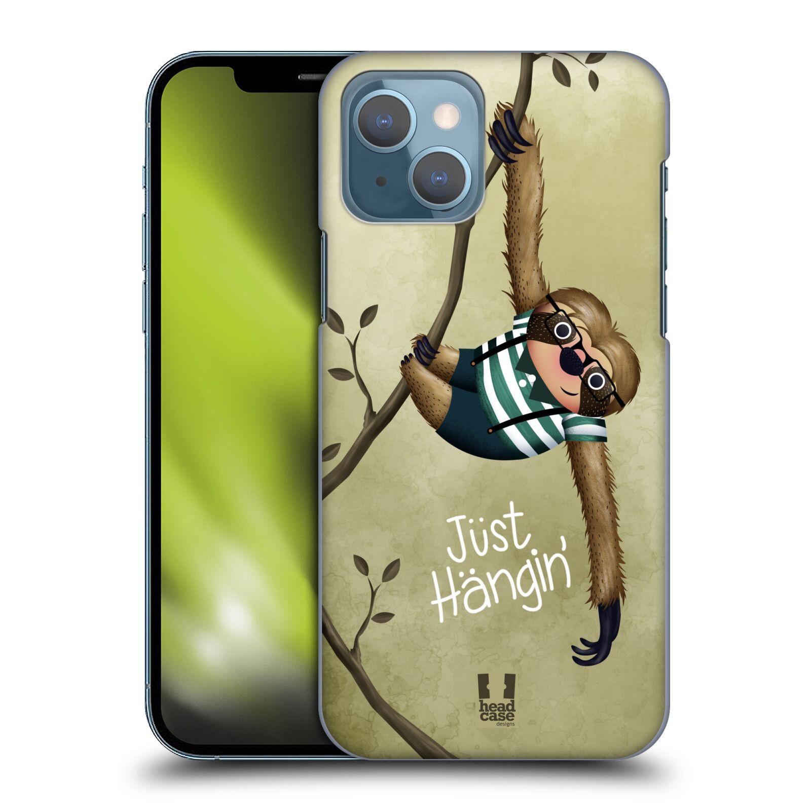 Plastové pouzdro na mobil Apple iPhone 13 - Head Case - Lenochod Just Hangin