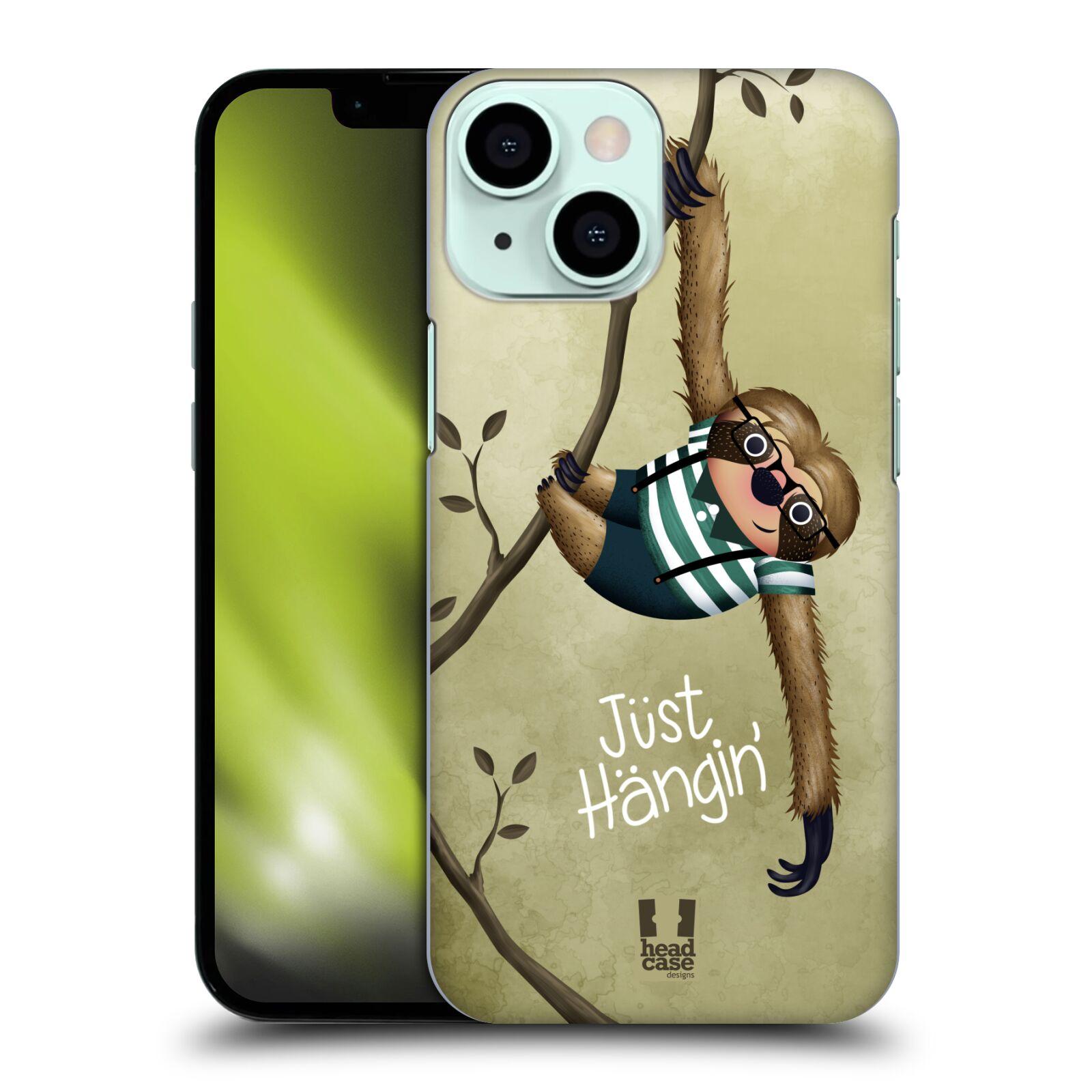 Plastové pouzdro na mobil Apple iPhone 13 Mini - Head Case - Lenochod Just Hangin
