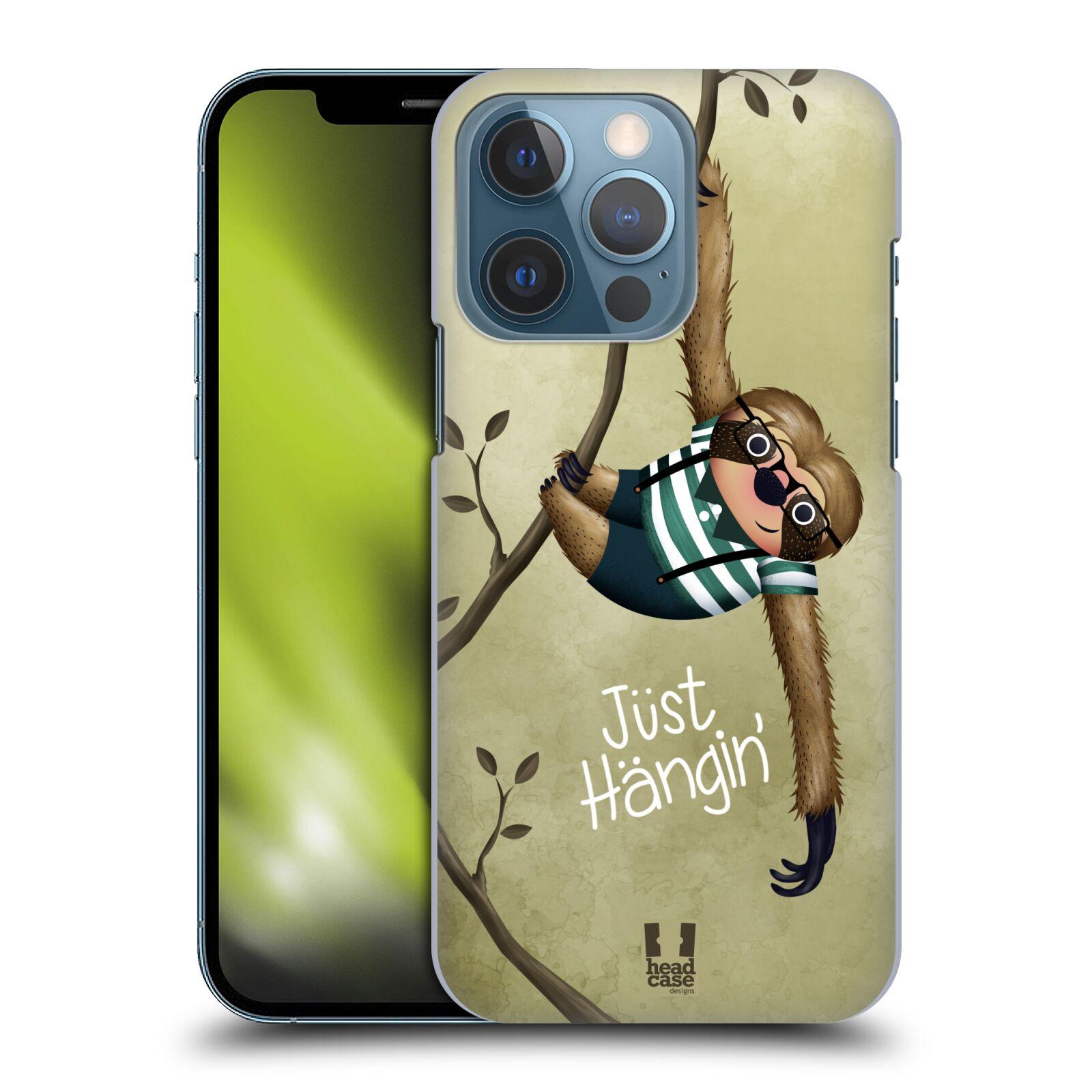 Plastové pouzdro na mobil Apple iPhone 13 Pro - Head Case - Lenochod Just Hangin