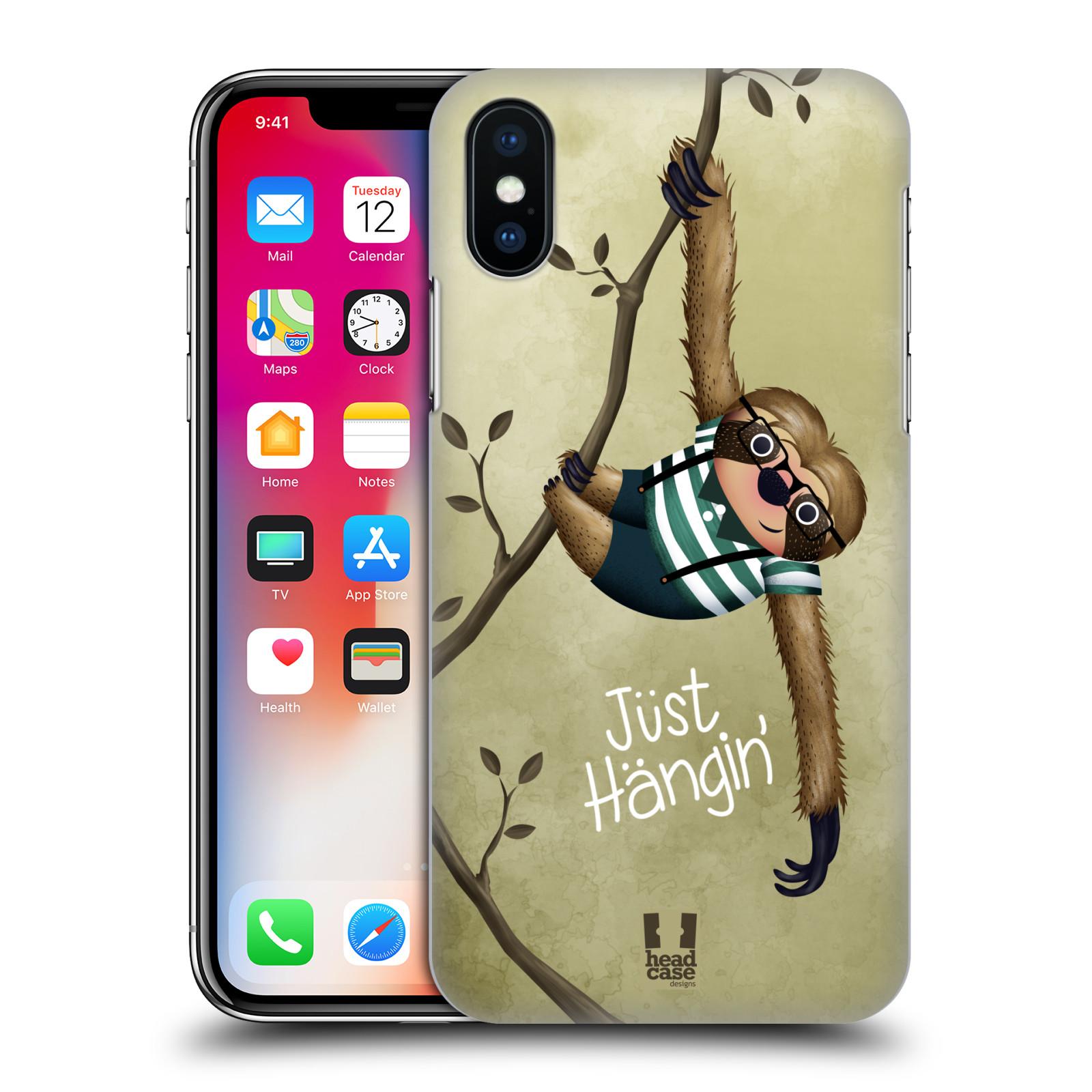 Plastové pouzdro na mobil Apple iPhone X - Head Case - Lenochod Just Hangin