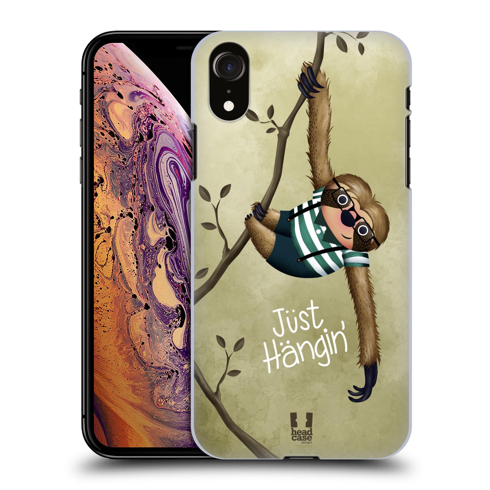 Plastové pouzdro na mobil Apple iPhone XR - Head Case - Lenochod Just Hangin