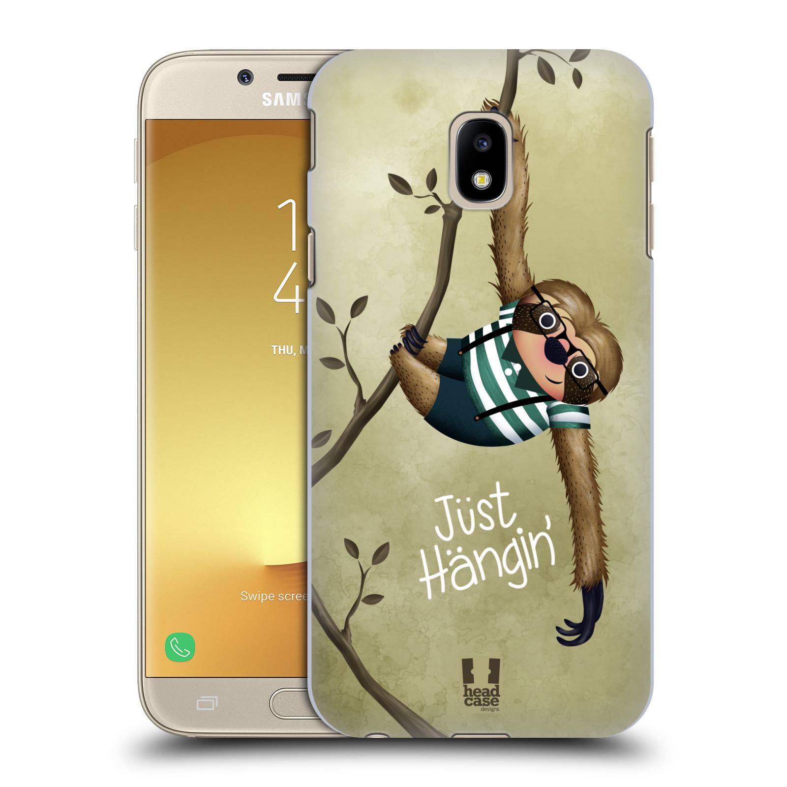 Plastové pouzdro na mobil Samsung Galaxy J3 (2017) - Head Case - Lenochod Just Hangin