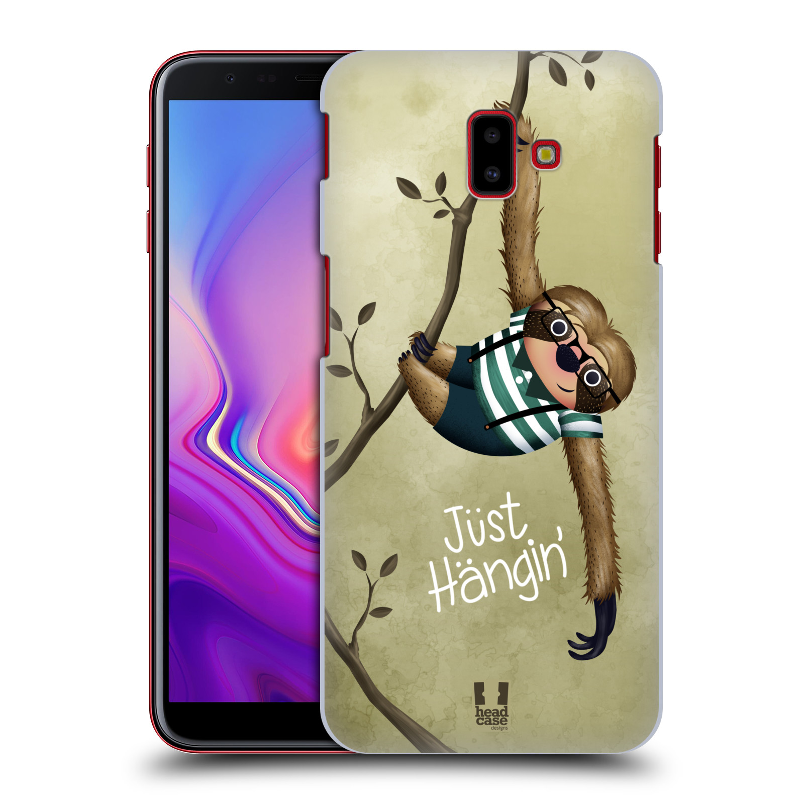Plastové pouzdro na mobil Samsung Galaxy J6 Plus - Head Case - Lenochod Just Hangin