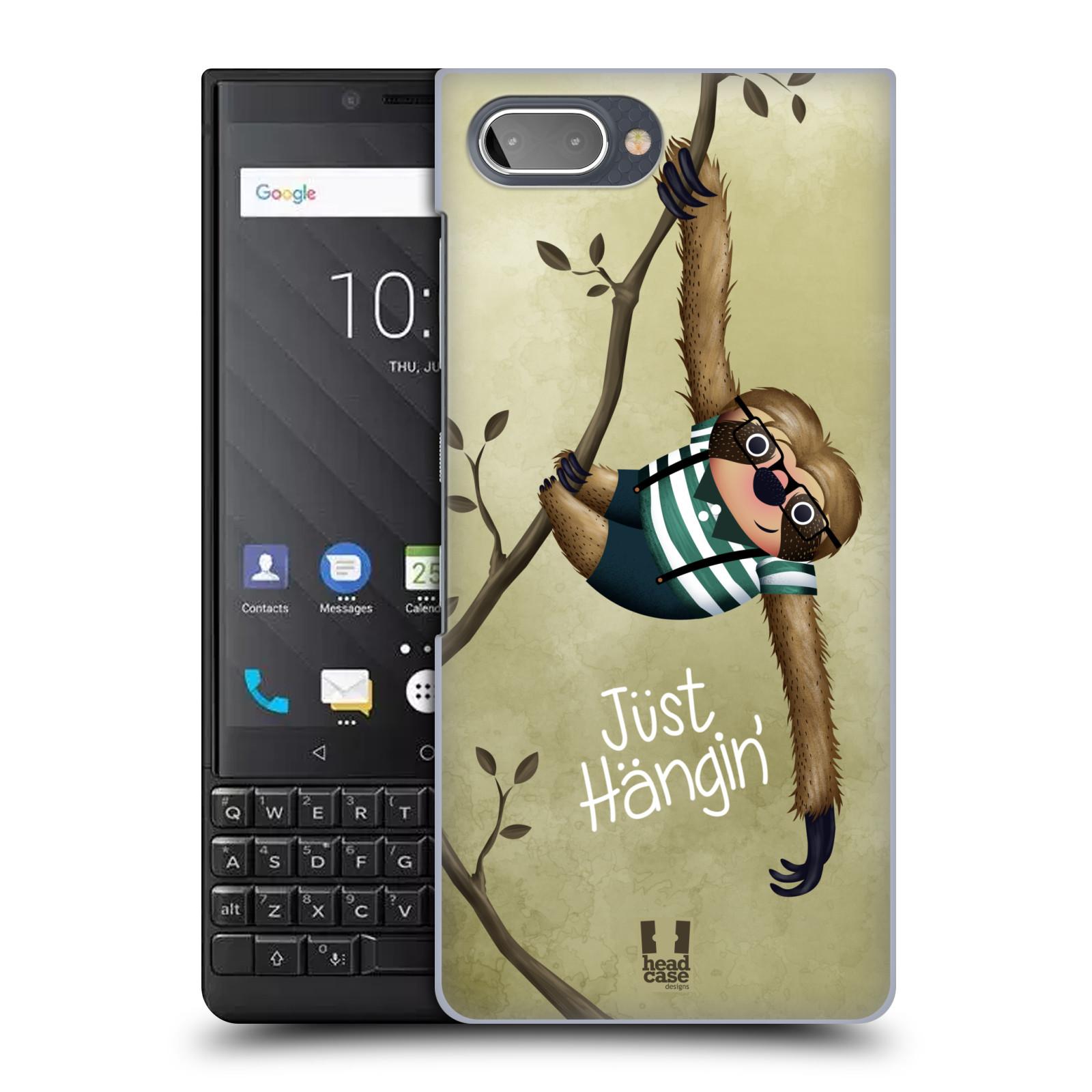 Plastové pouzdro na mobil Blackberry Key 2 - Head Case - Lenochod Just Hangin