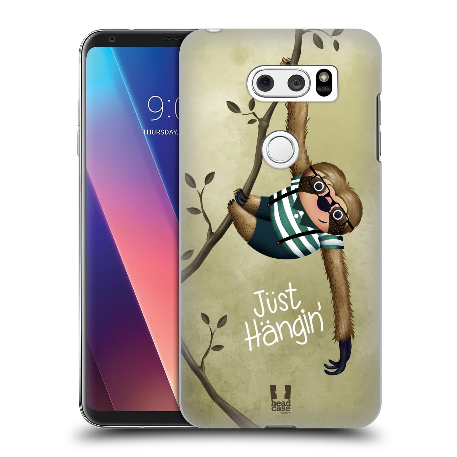 Plastové pouzdro na mobil LG V30 - Head Case - Lenochod Just Hangin