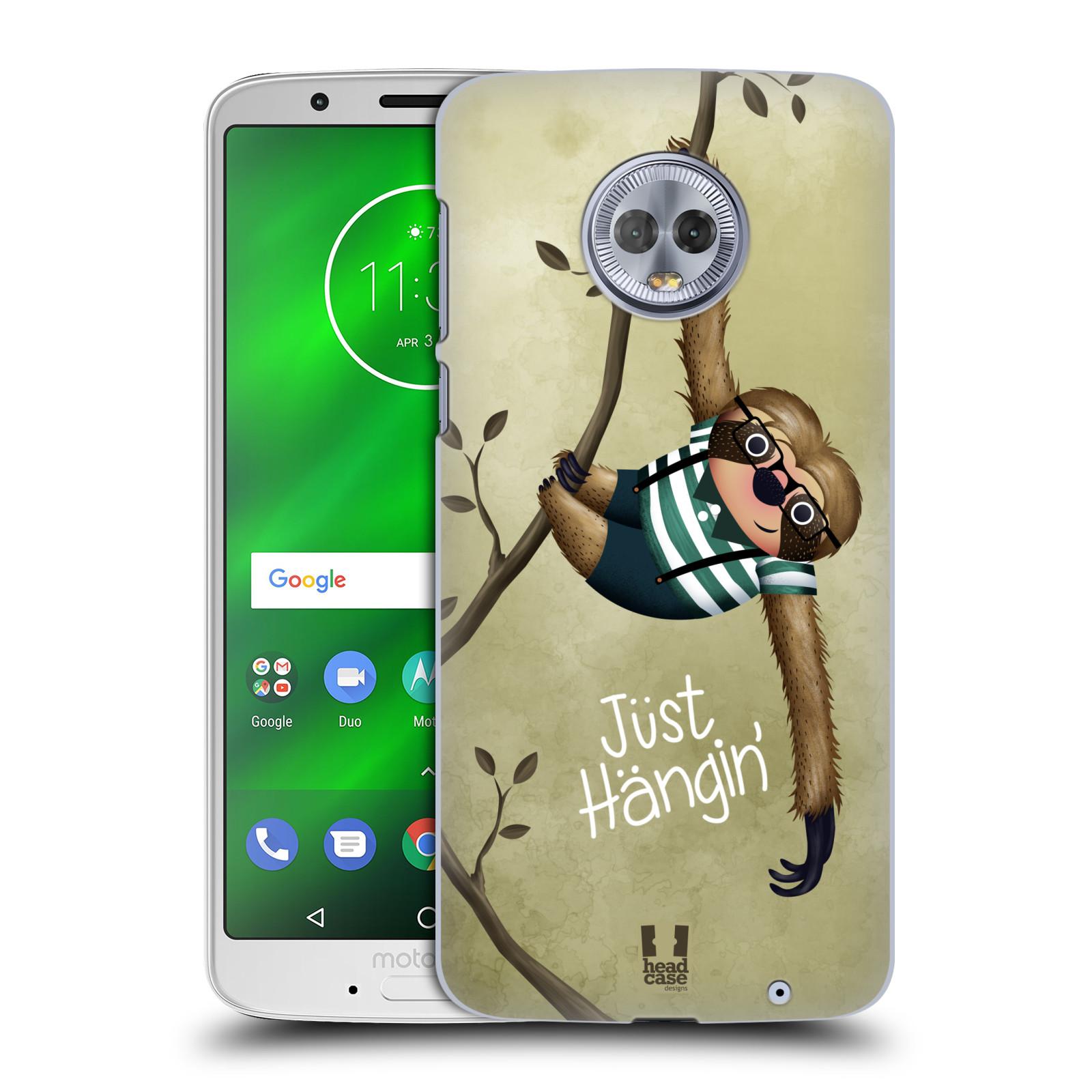 Plastové pouzdro na mobil Motorola Moto G6 Plus - Head Case - Lenochod Just Hangin