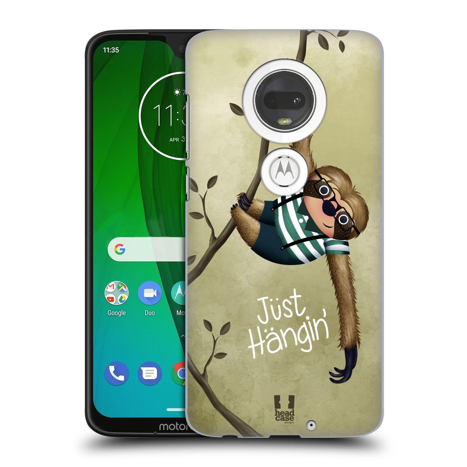 Plastové pouzdro na mobil Motorola Moto G7 - Head Case - Lenochod Just Hangin