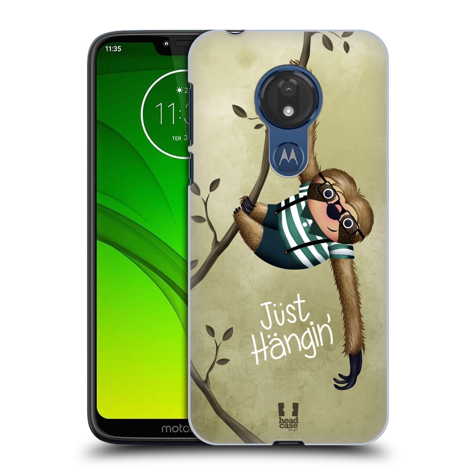 Plastové pouzdro na mobil Motorola Moto G7 Power - Head Case - Lenochod Just Hangin