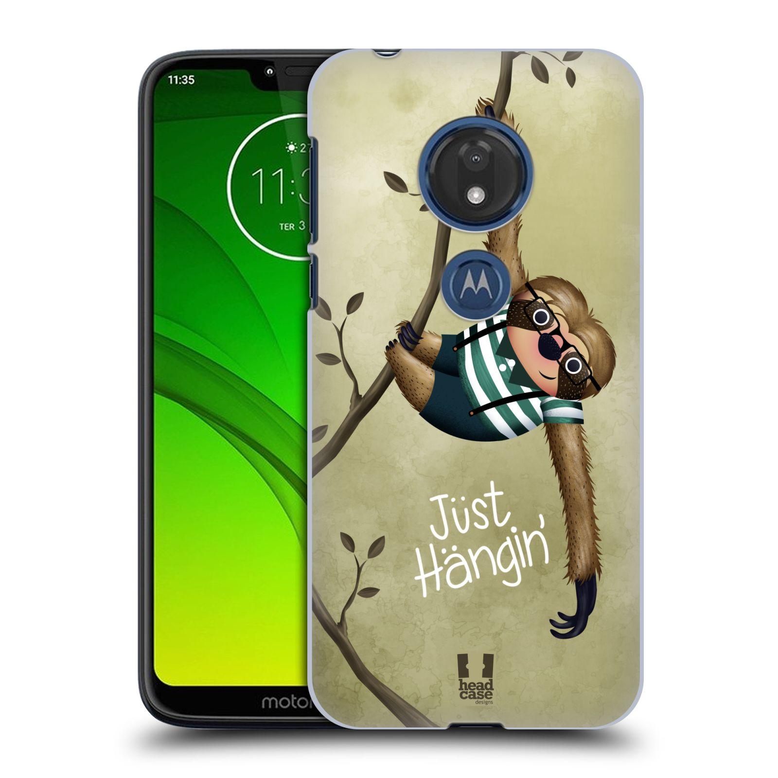 Plastové pouzdro na mobil Motorola Moto G7 Play - Head Case - Lenochod Just Hangin